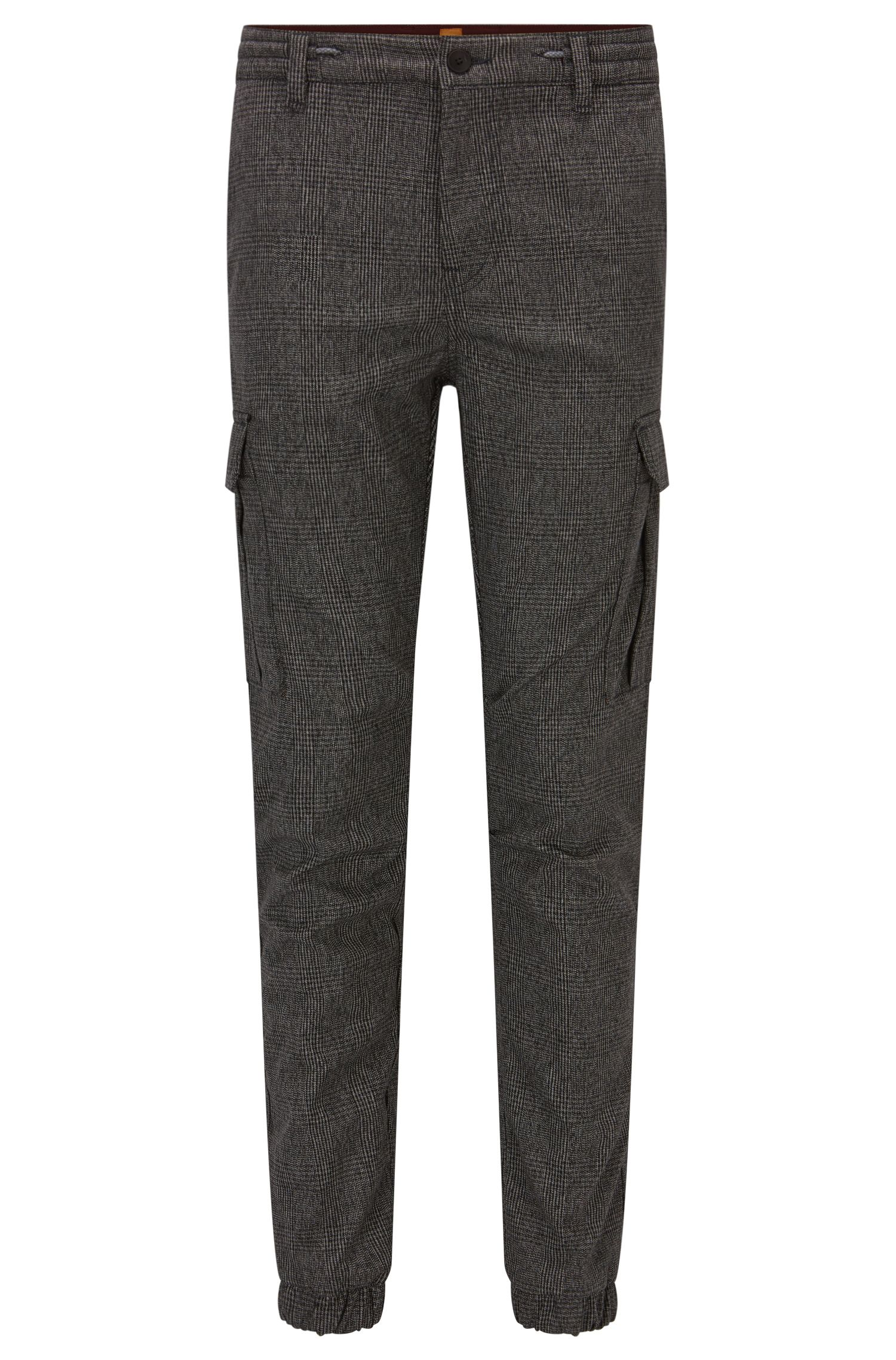 Tapered-fit cargobroek met prince-of-wales-ruiten