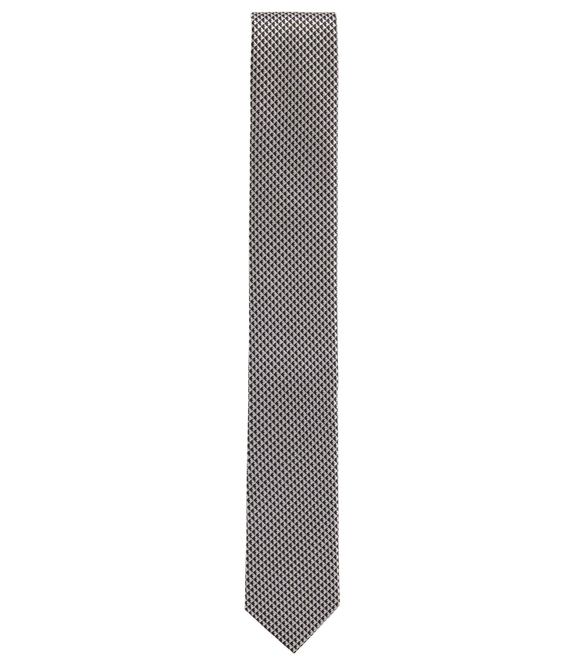Micro-pattern tie in silk jacquard, Wit