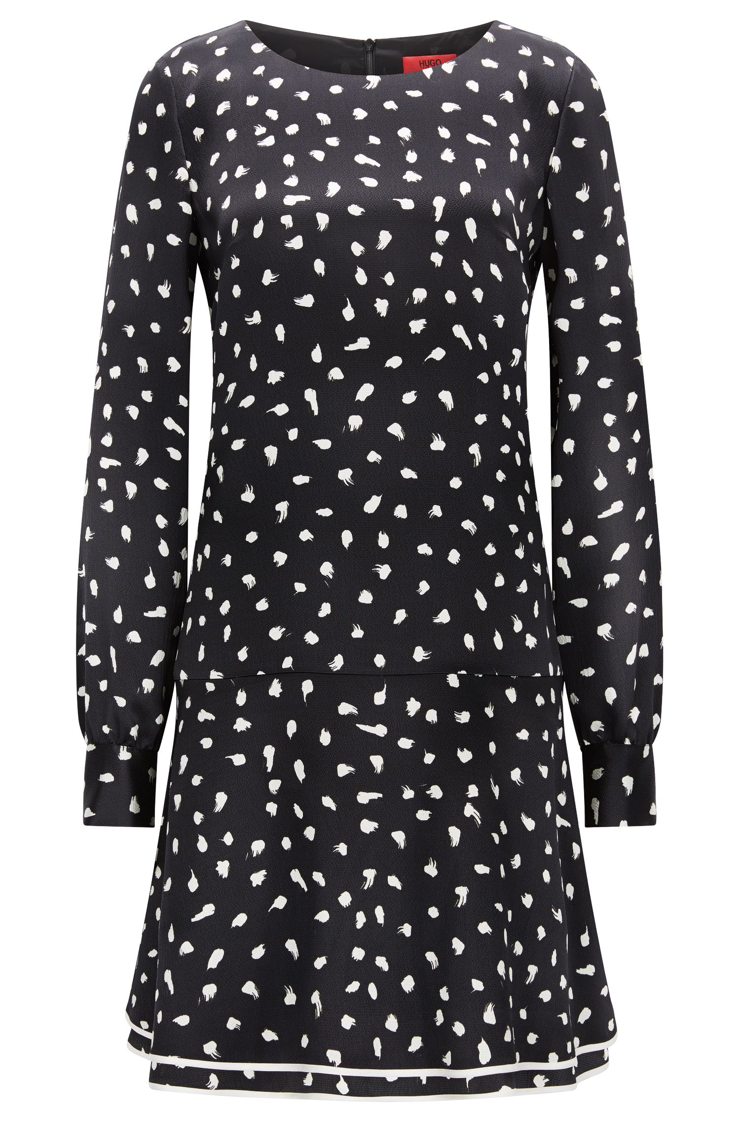 Robe Relaxed Fit en pure soie