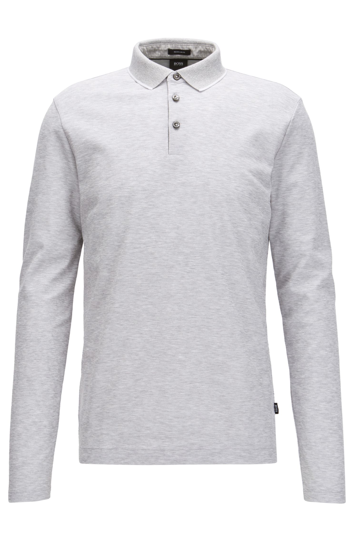 Polo Regular Fit en coton nid-d'abeilles