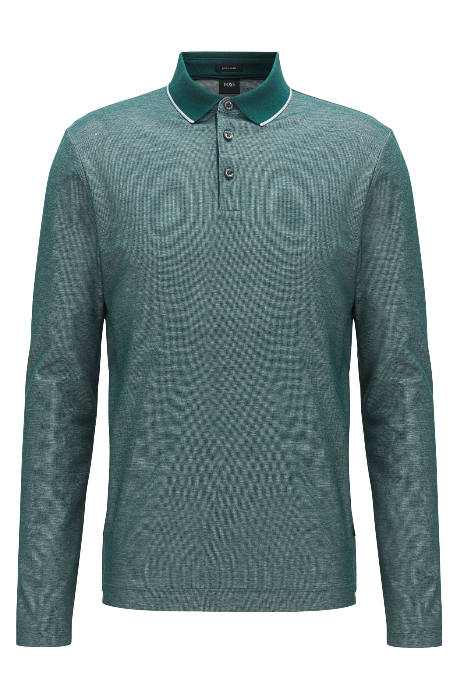 Regular-fit polo shirt in honeycomb cotton