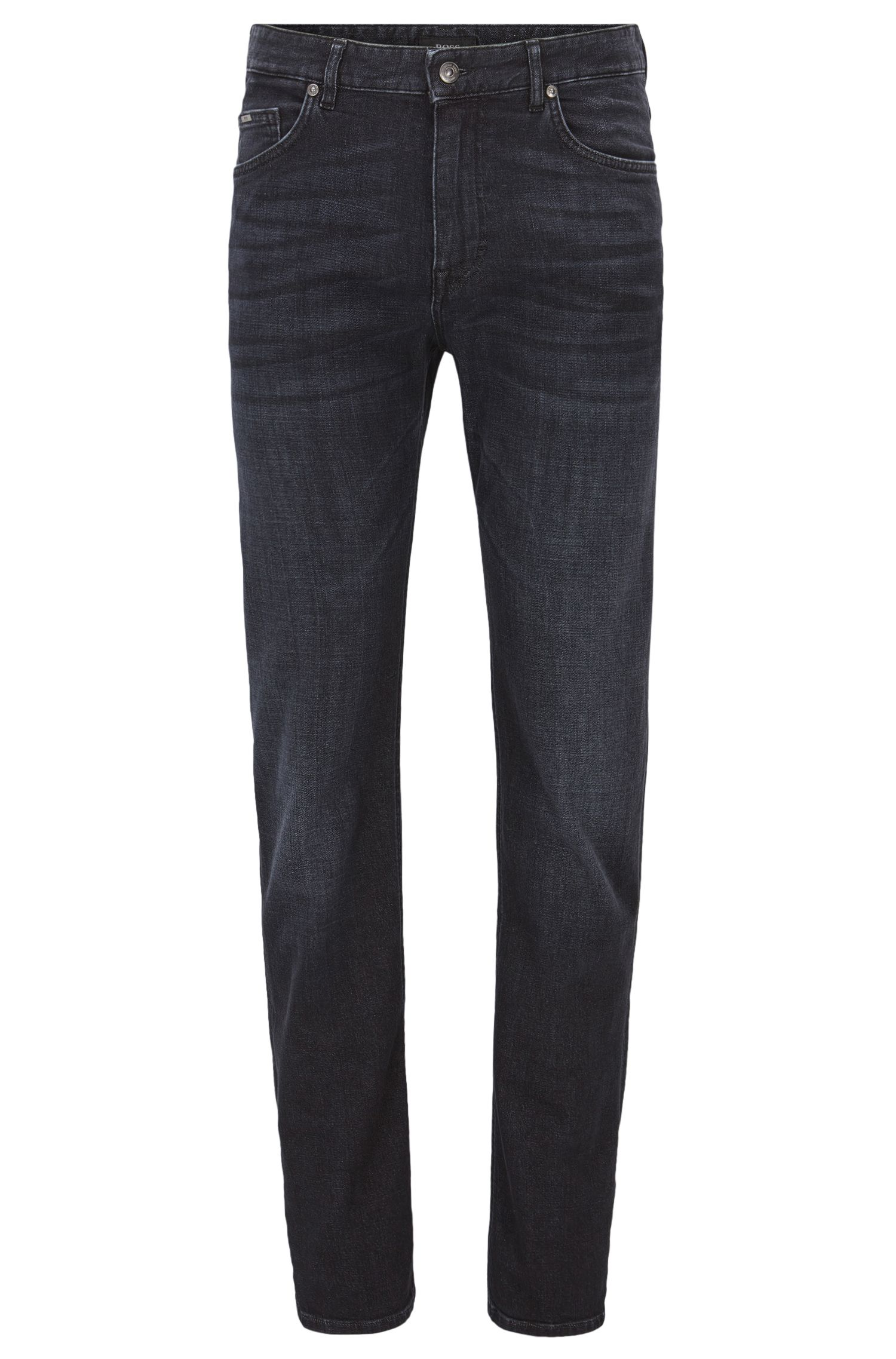Jeans relaxed fit in denim effetto cashmere