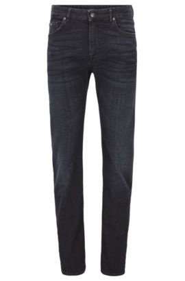Relaxed-fit jeans in cashmere-touch denim, Anthracite