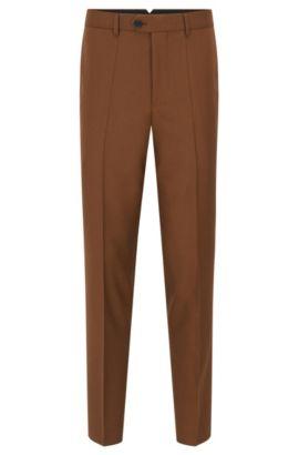 Slim-Fit-Hose aus garngefärbter Schurwolle, Braun