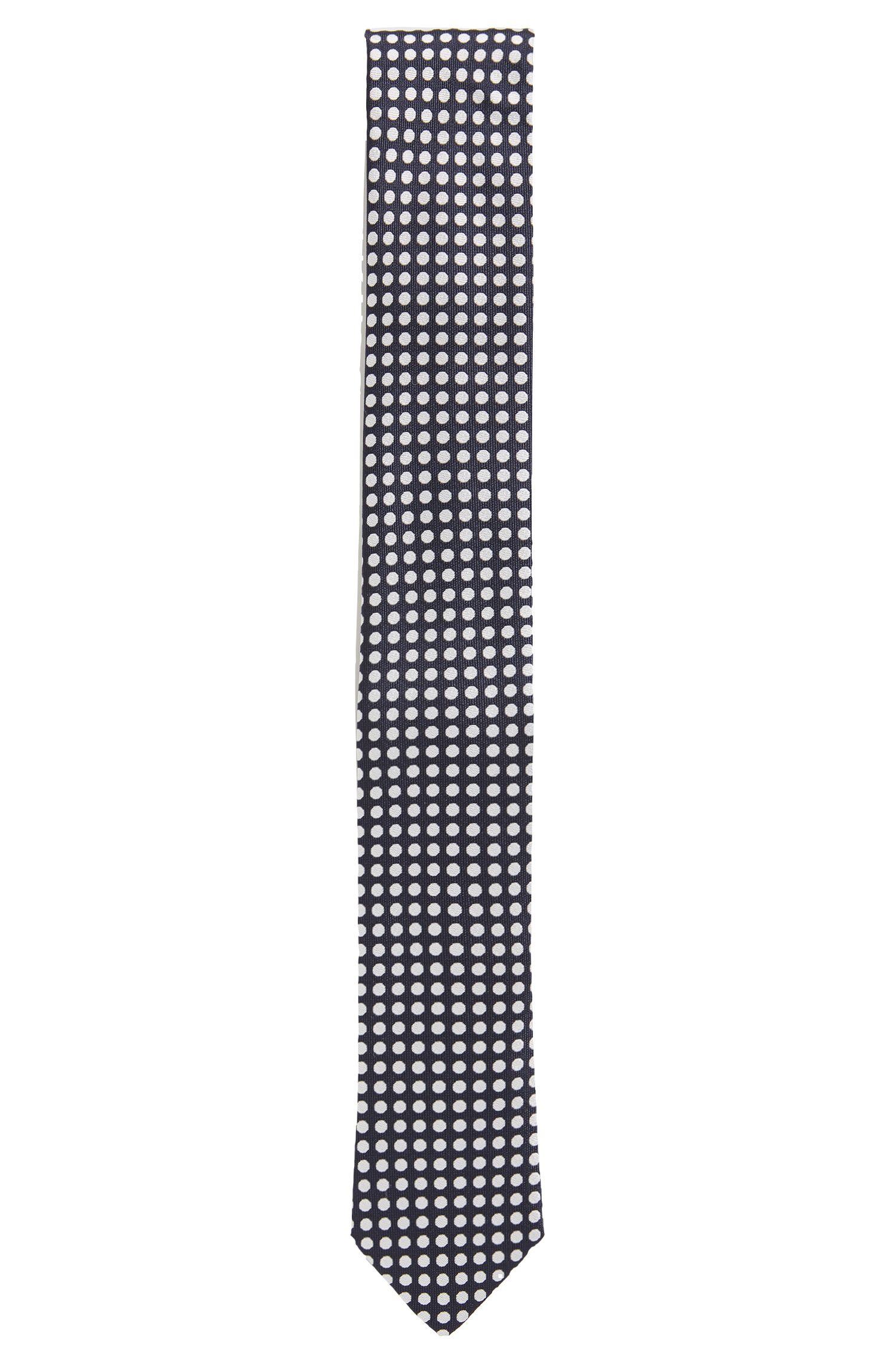 Cravatta in seta jacquard con motivo a pois