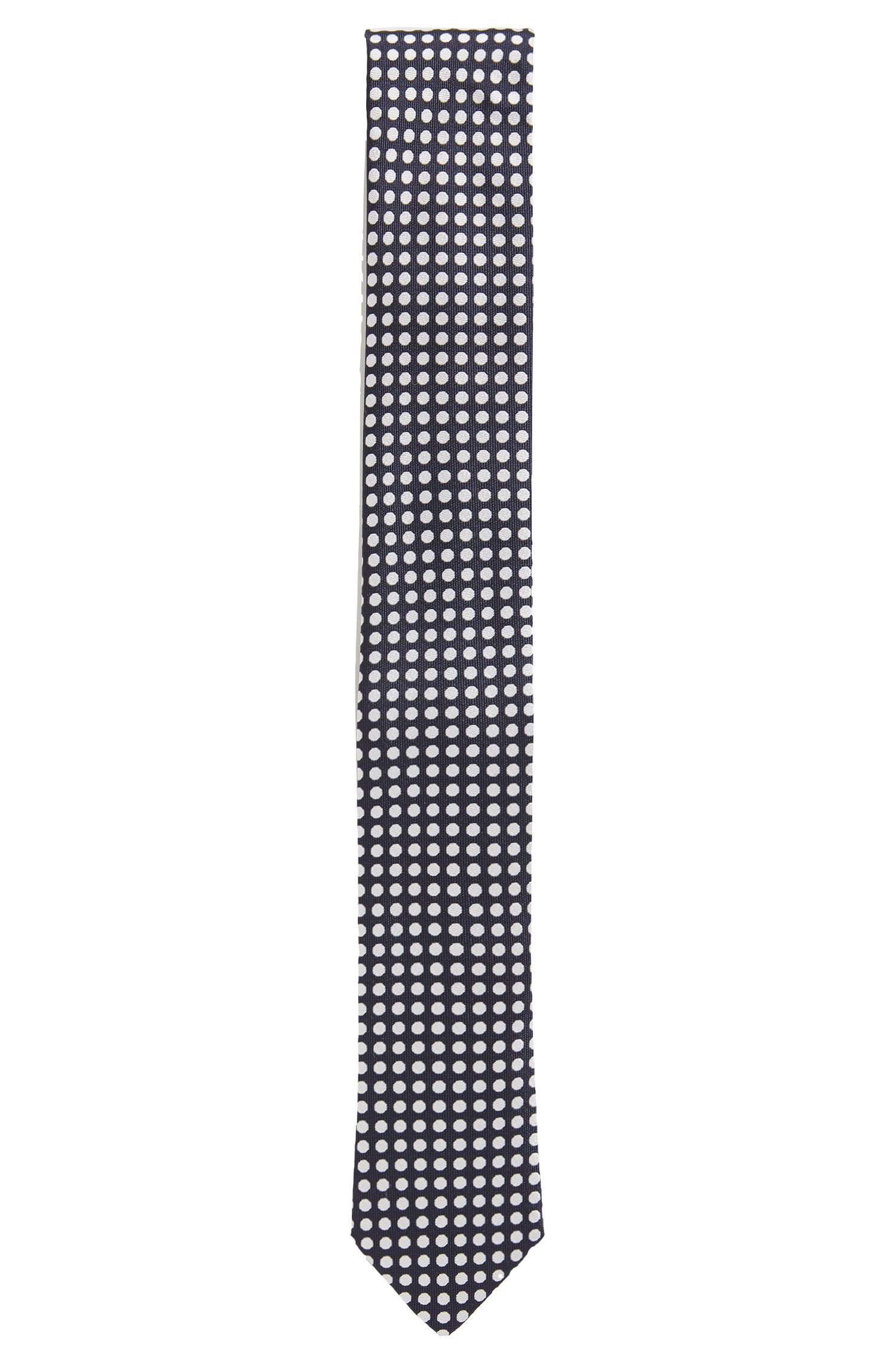 Polka dot tie in silk jacquard