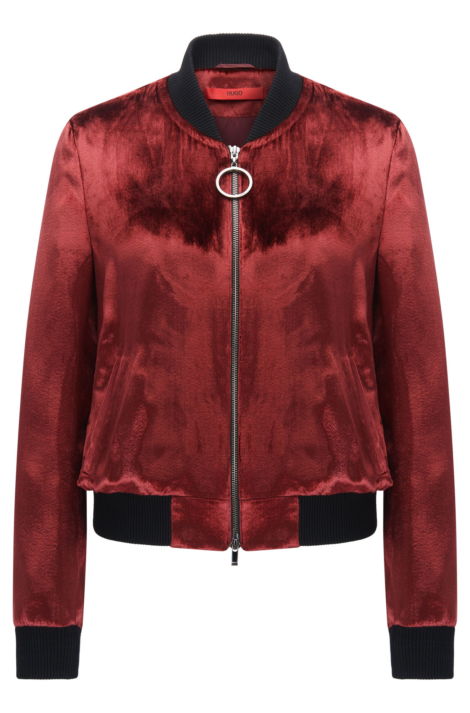 Velvet bomber jacket in a regular fit