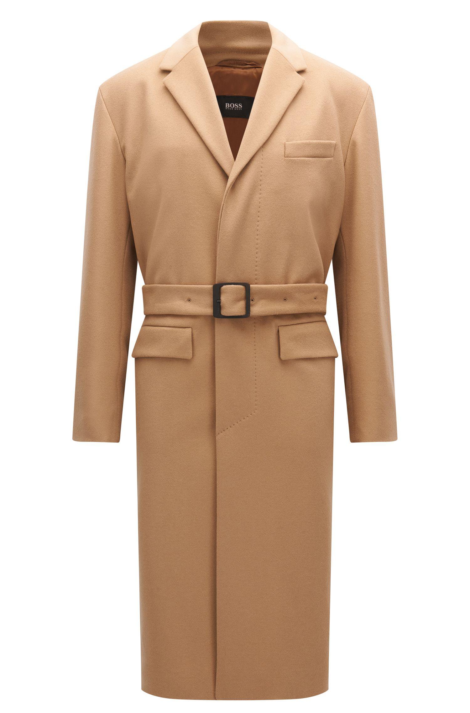 Relaxed-fit mantel van scheerwol en kasjmier