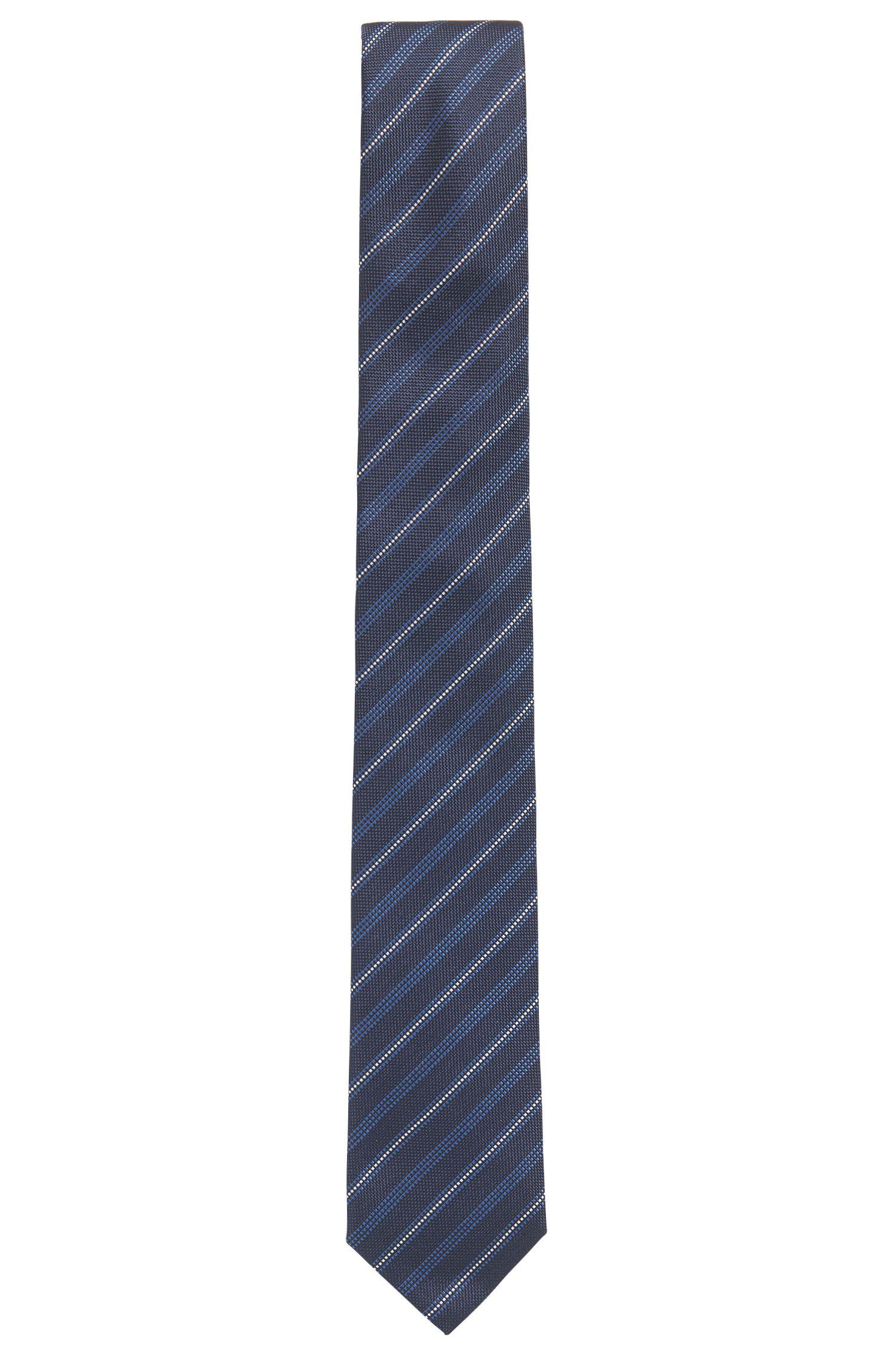 Krawatte aus Seiden-Jacquard mit diagonalen Streifen
