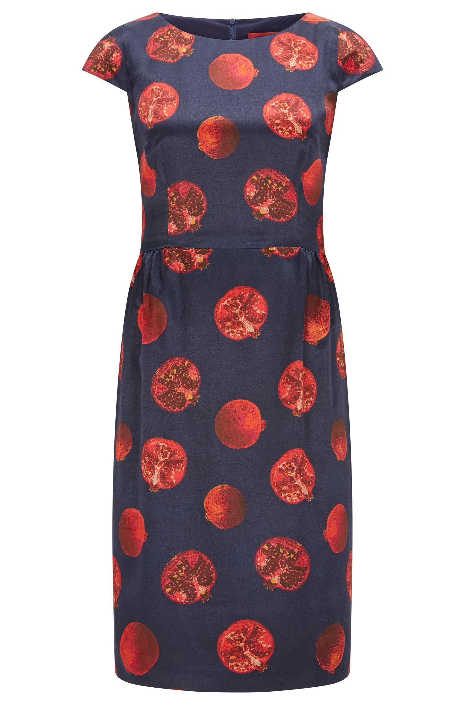 Regular-fit printed dress in fluid fabric