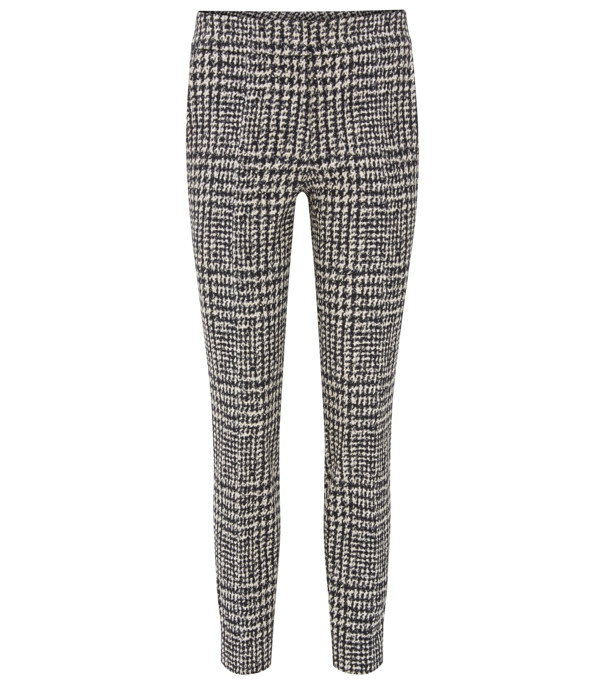 Slim-fit trousers in an abstract check, Patterned