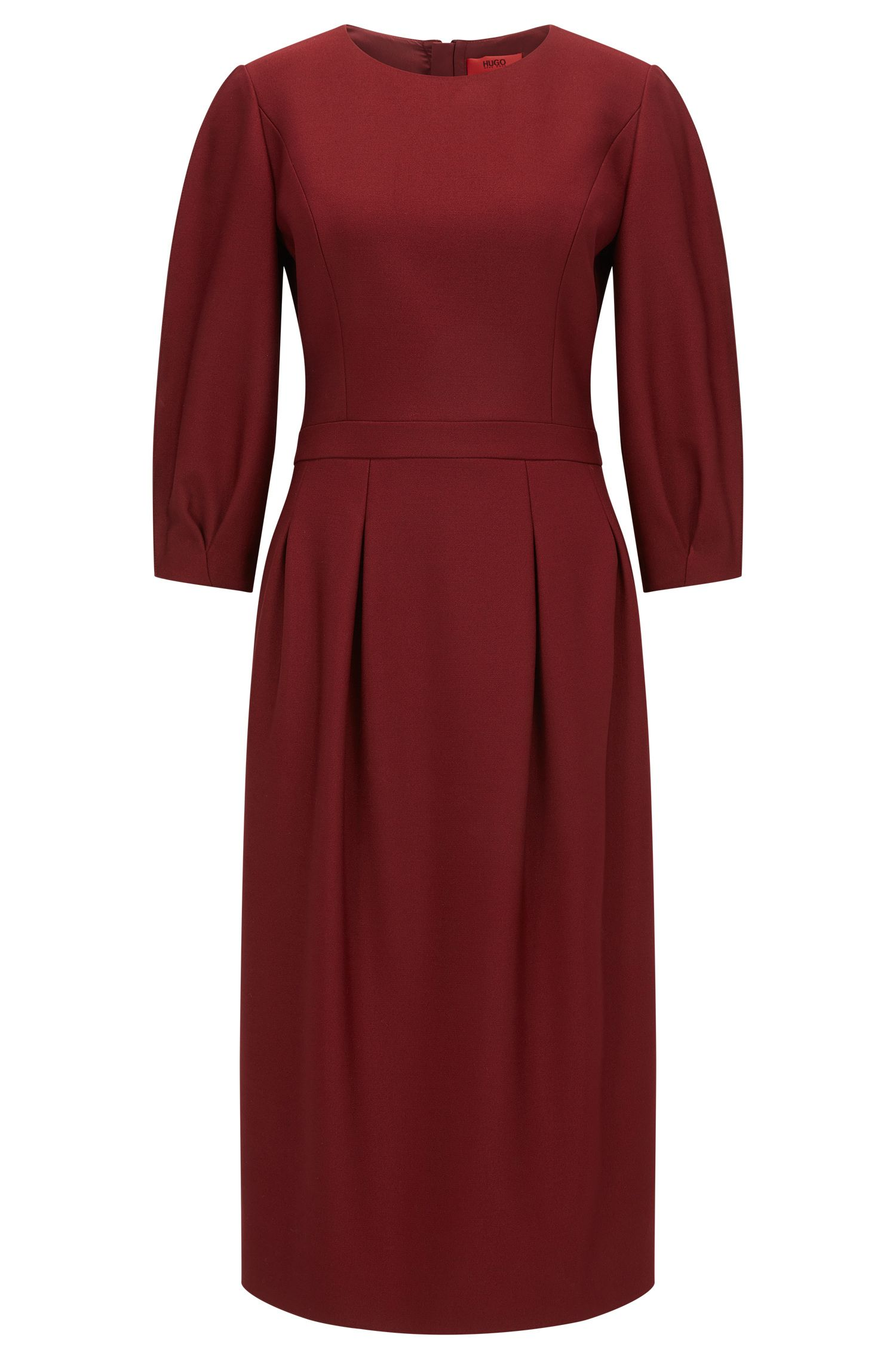 Crew-neck dress in soft double-faced fabric