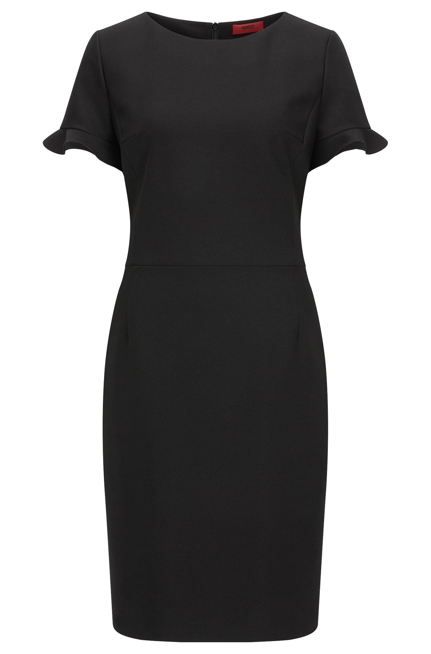 Regular-fit jurk van technisch stretchmateriaal