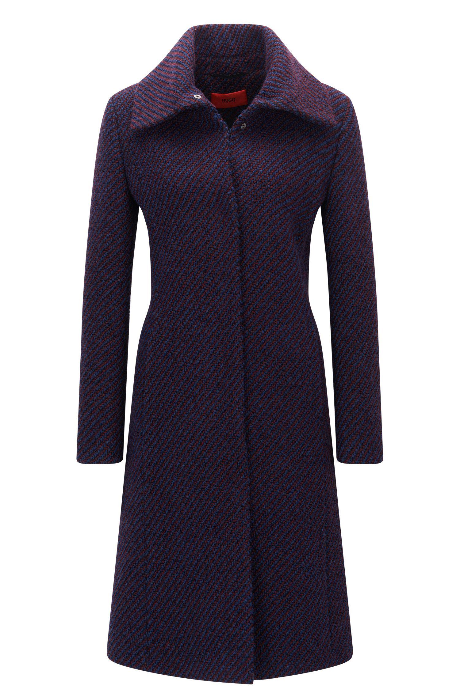 Regular-fit mantel van een wolmix