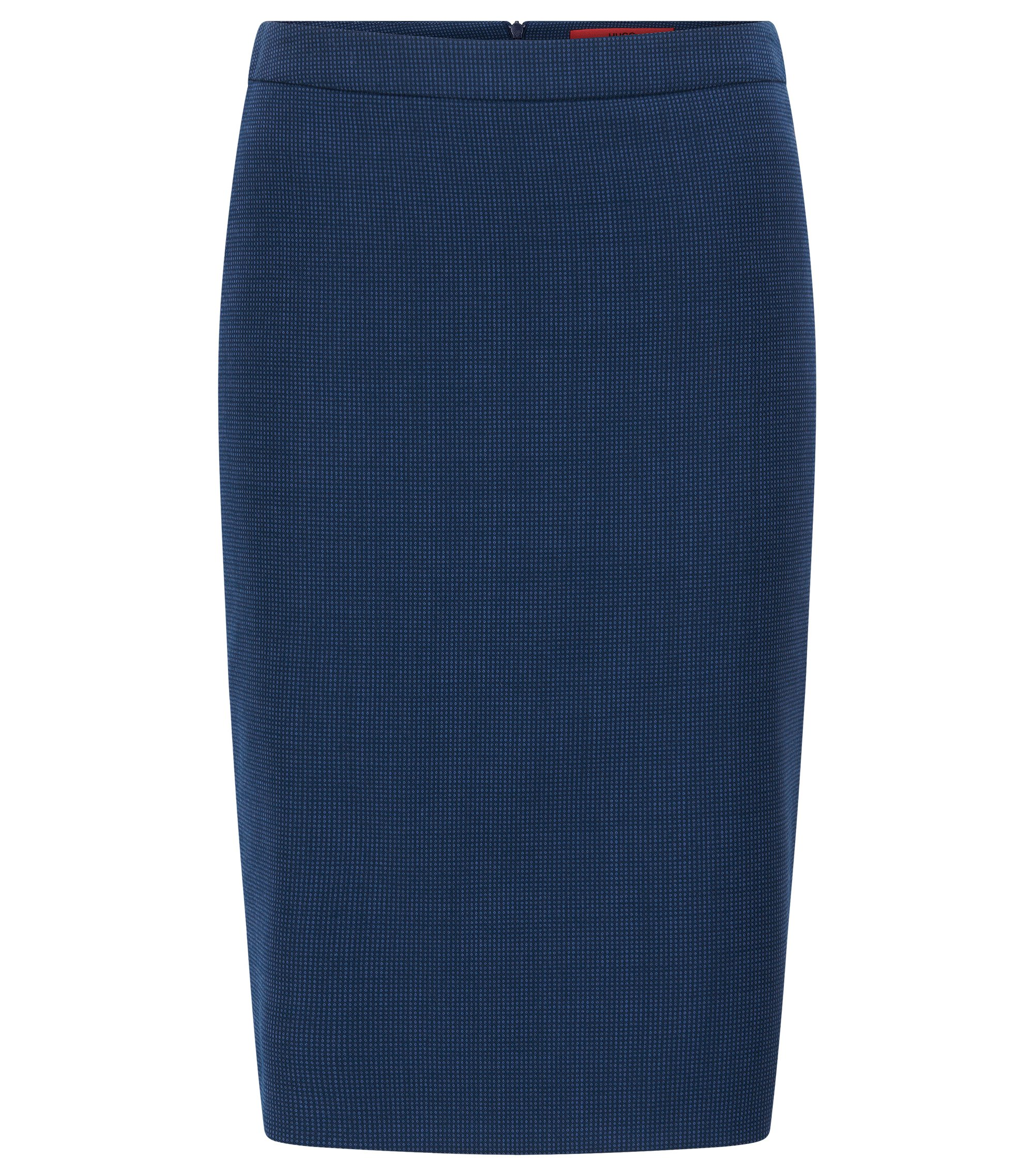 Regular-fit pencil skirt in virgin wool, Blue