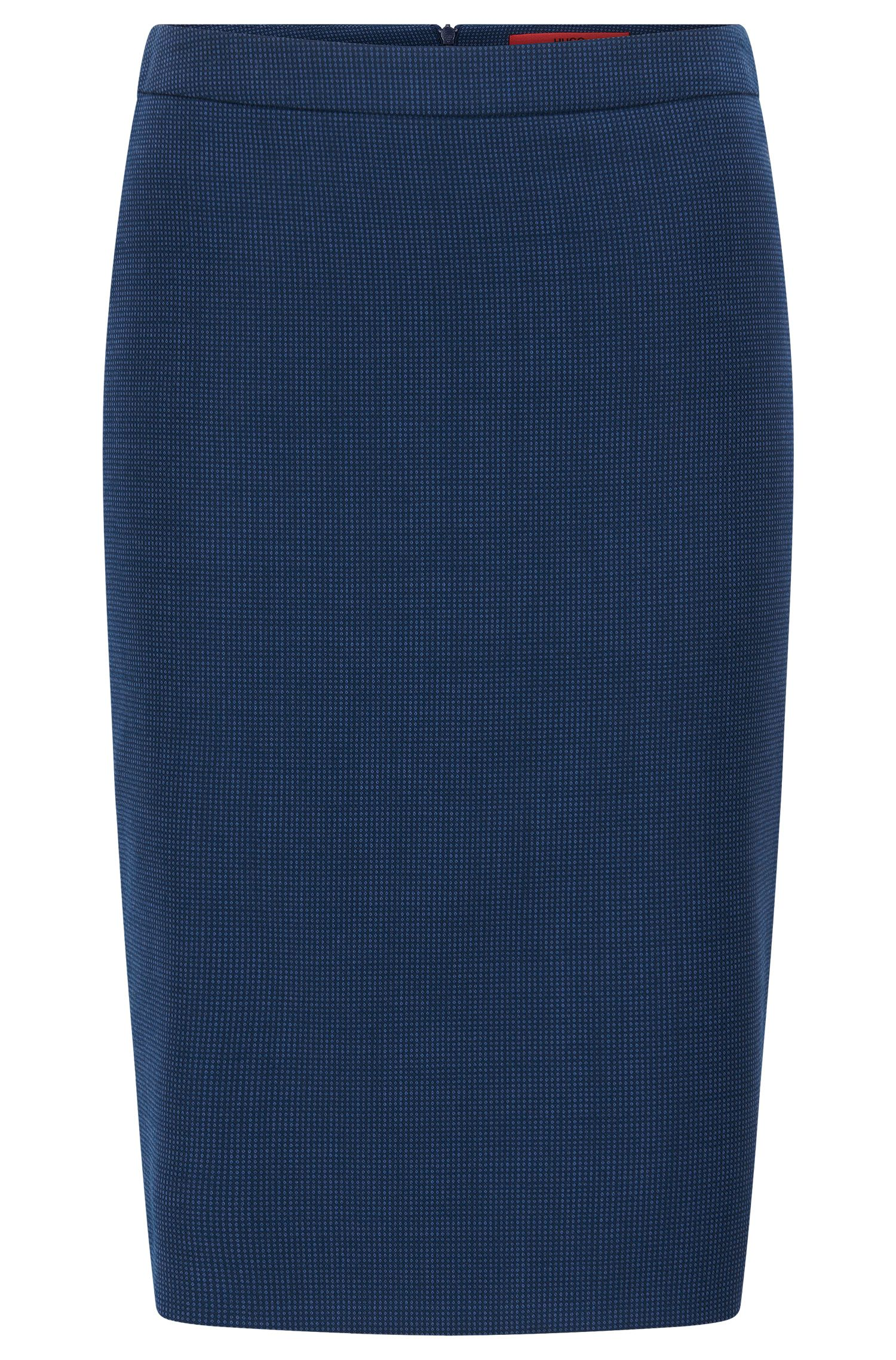 Regular-fit pencil skirt in virgin wool