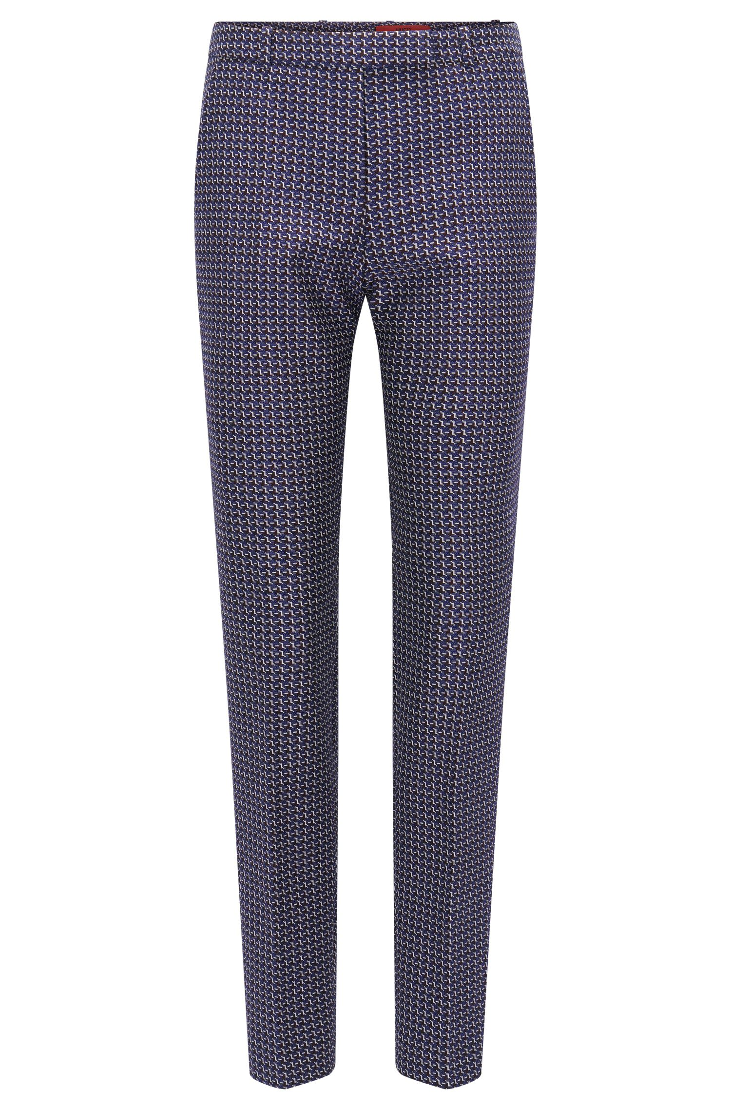 Regular-fit trousers in graphic jacquard