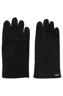 Lambskin leather gloves, Black