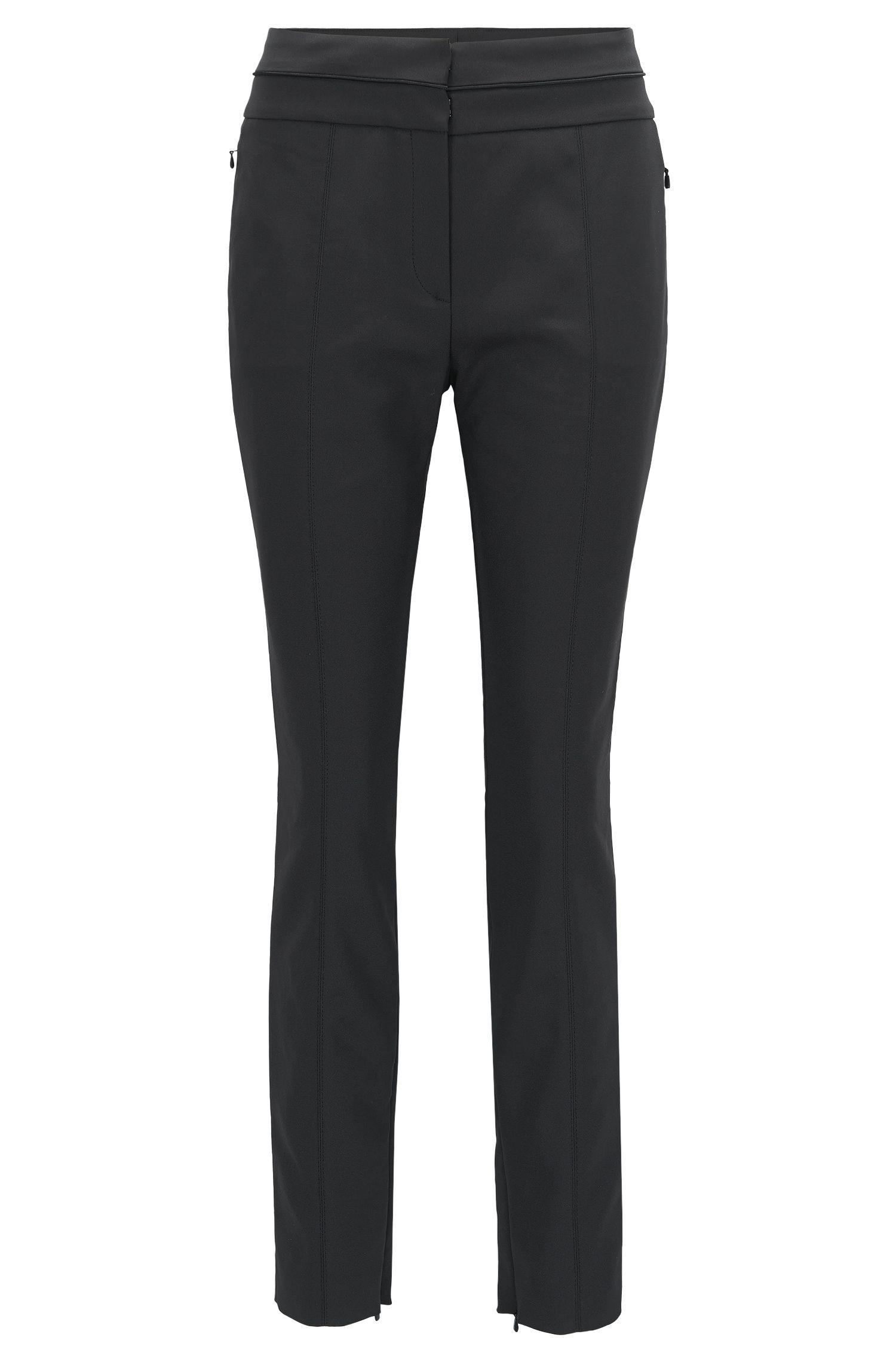 Slim-fit broek van technisch stretchmateriaal