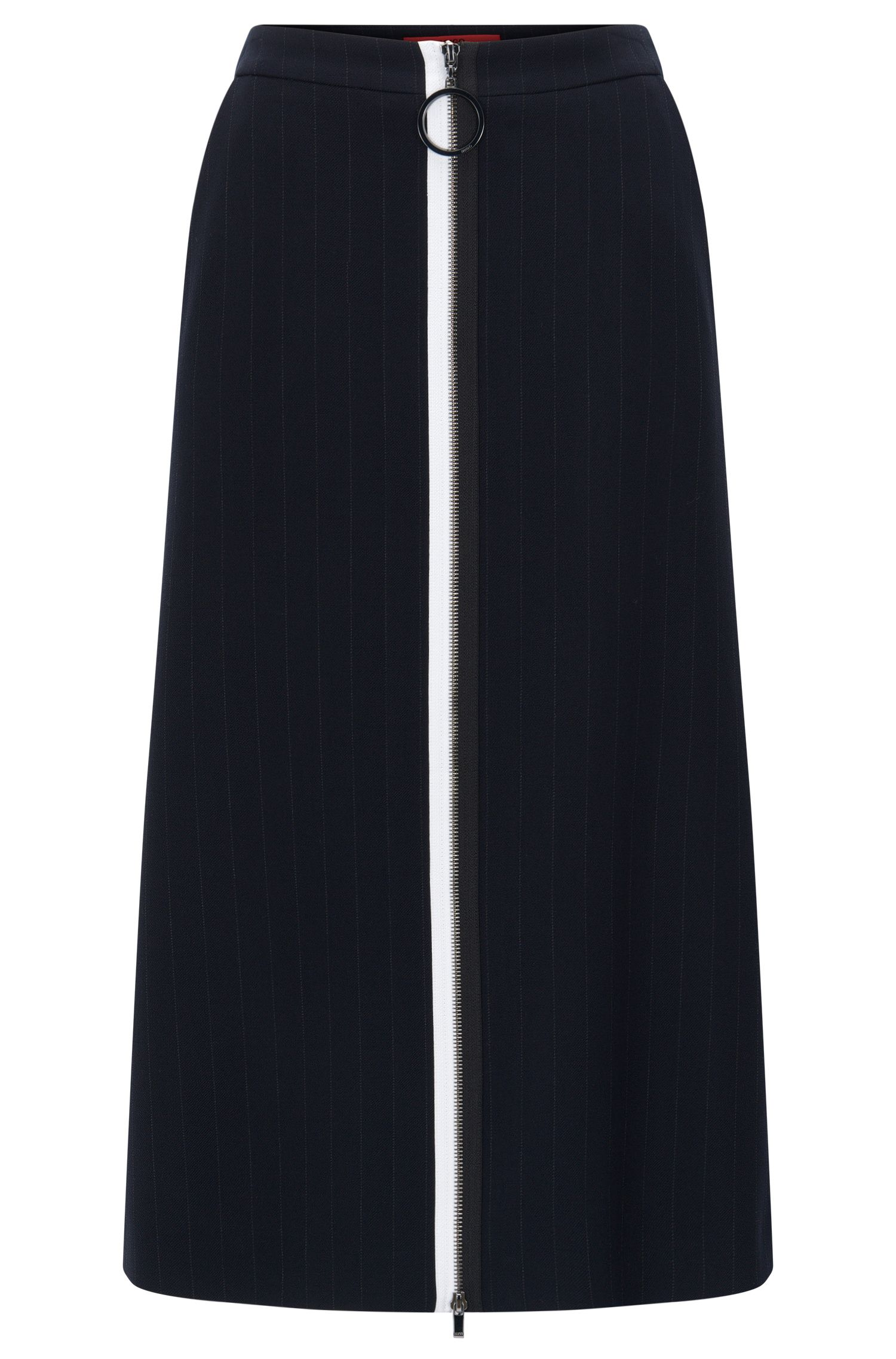 Regular-fit skirt in double-face fabric