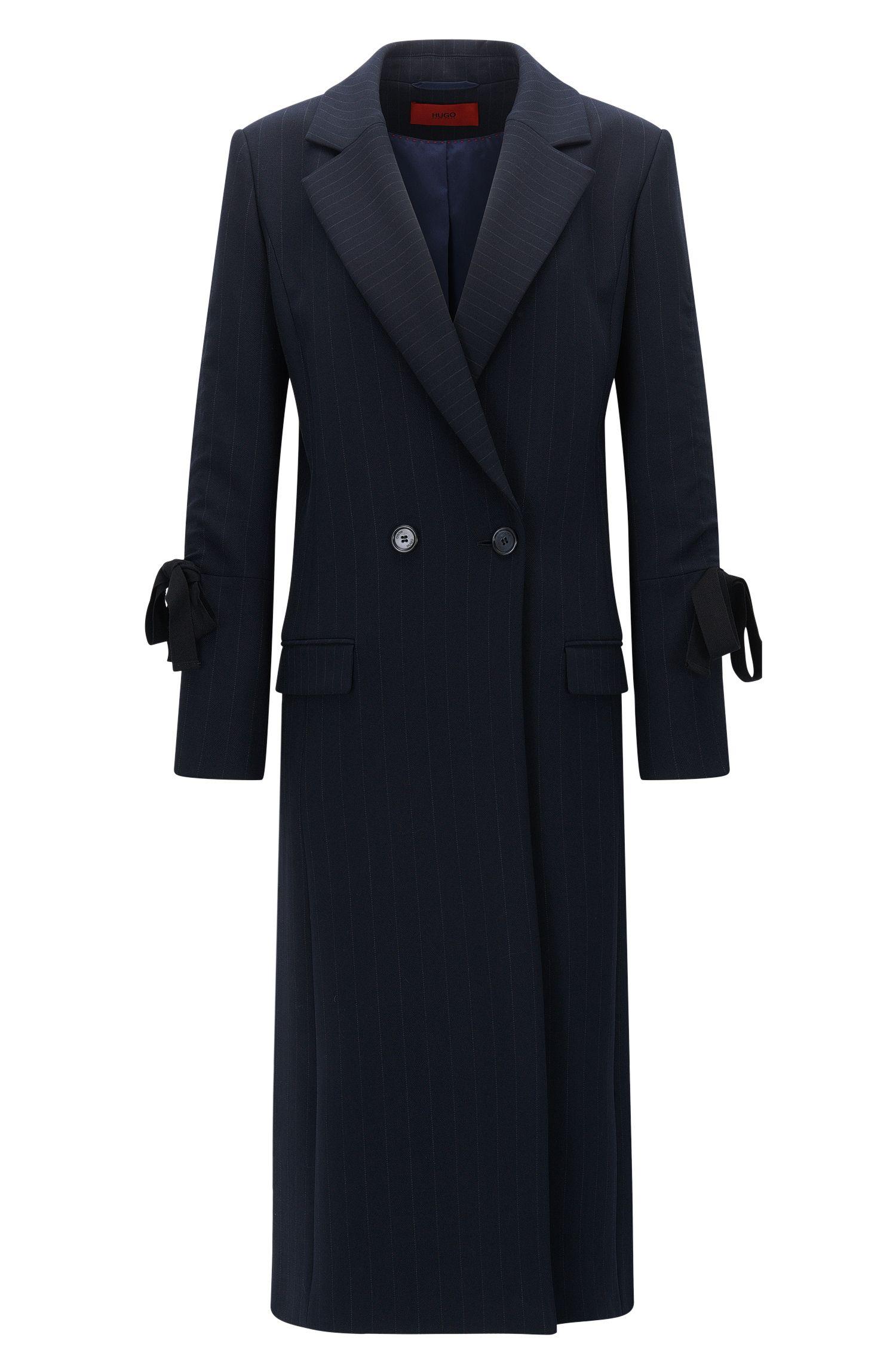 Abrigo con raya diplomática y tejido de doble cara