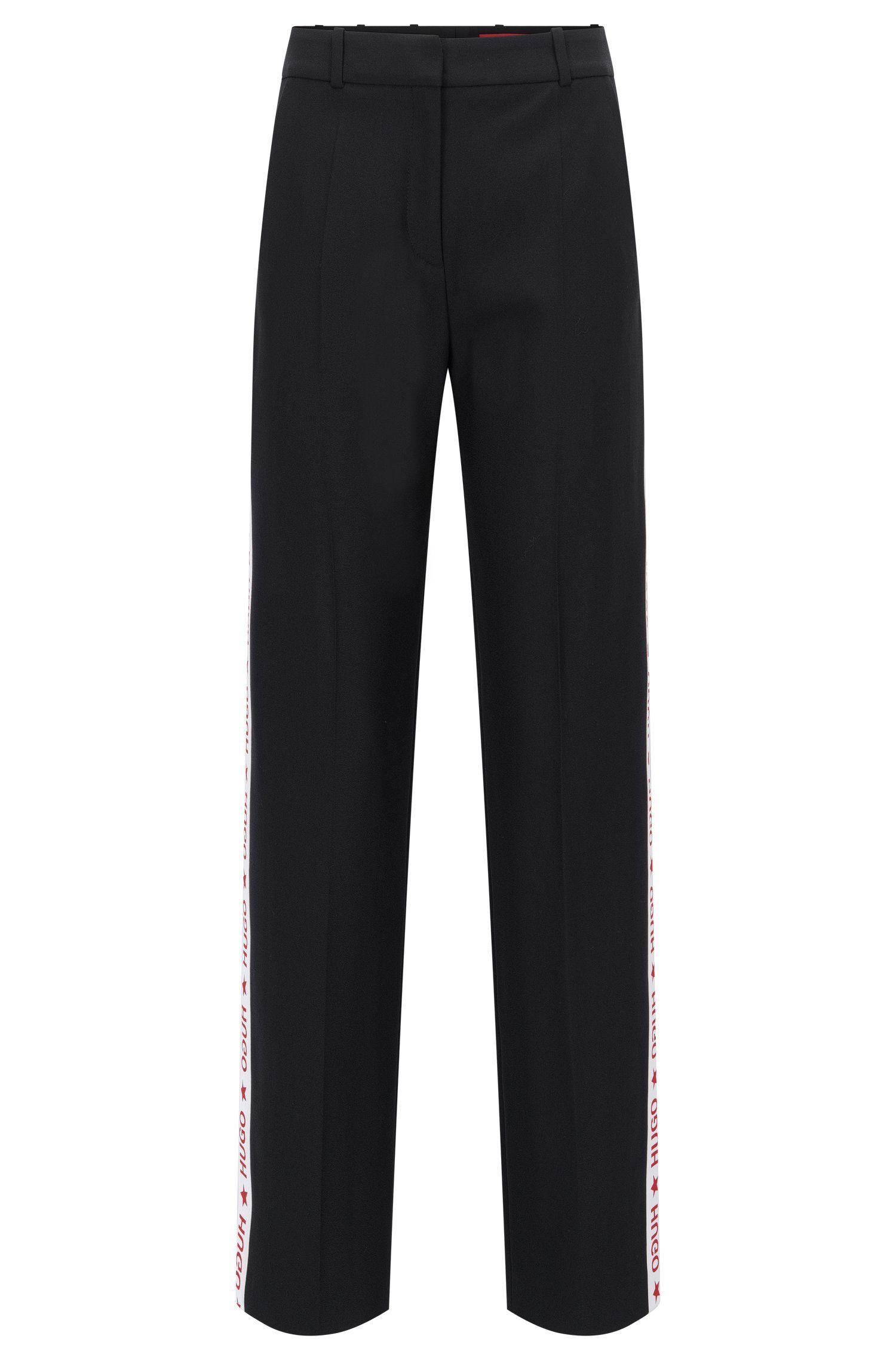 Pantalon Oversized Fit en crêpe technique