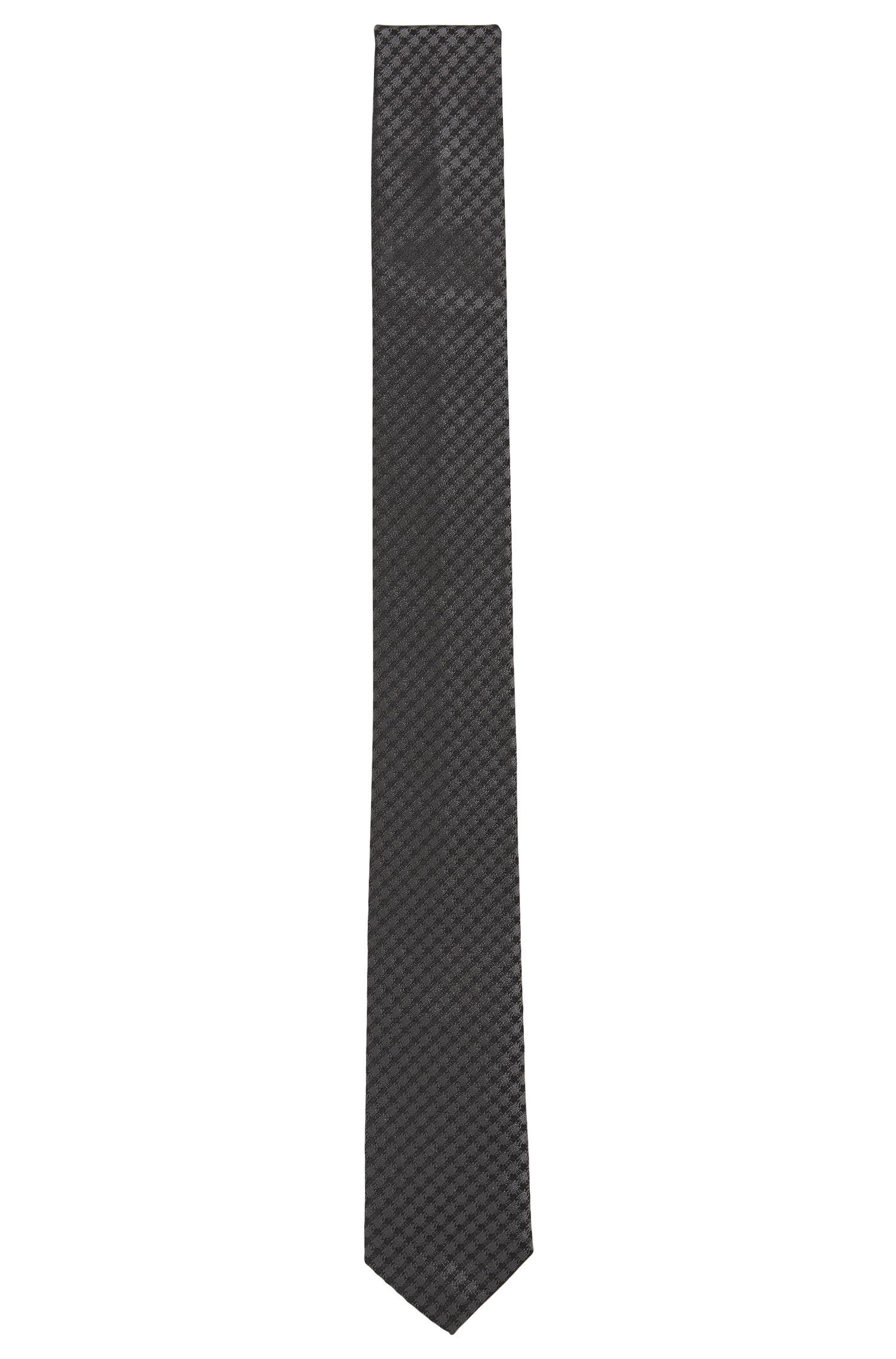 Cravate en pure soie micro-structurée