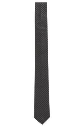 Fein strukturierte Krawatte aus reiner Seide , Schwarz