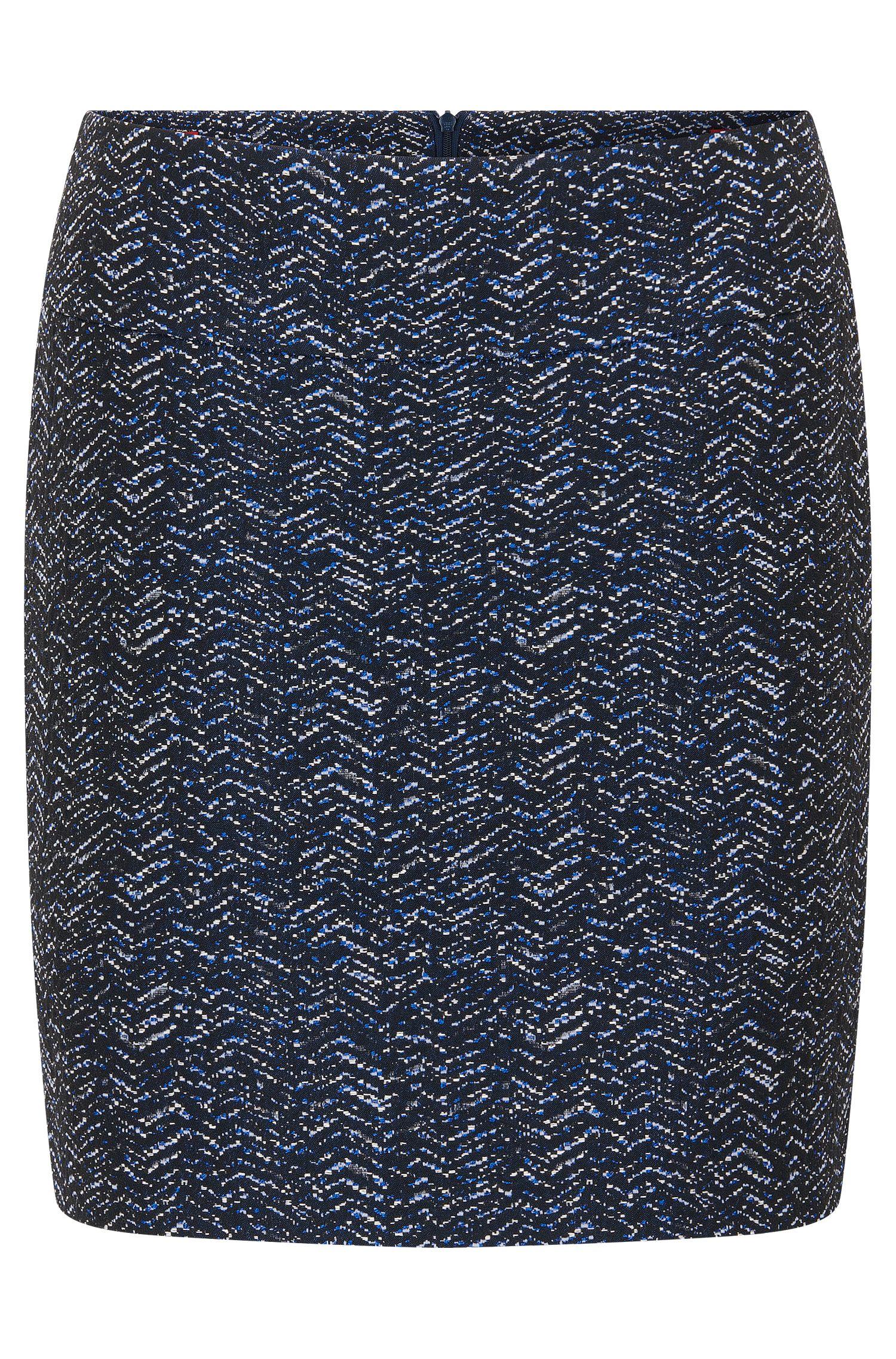 Mini skirt in yarn-dyed jacquard