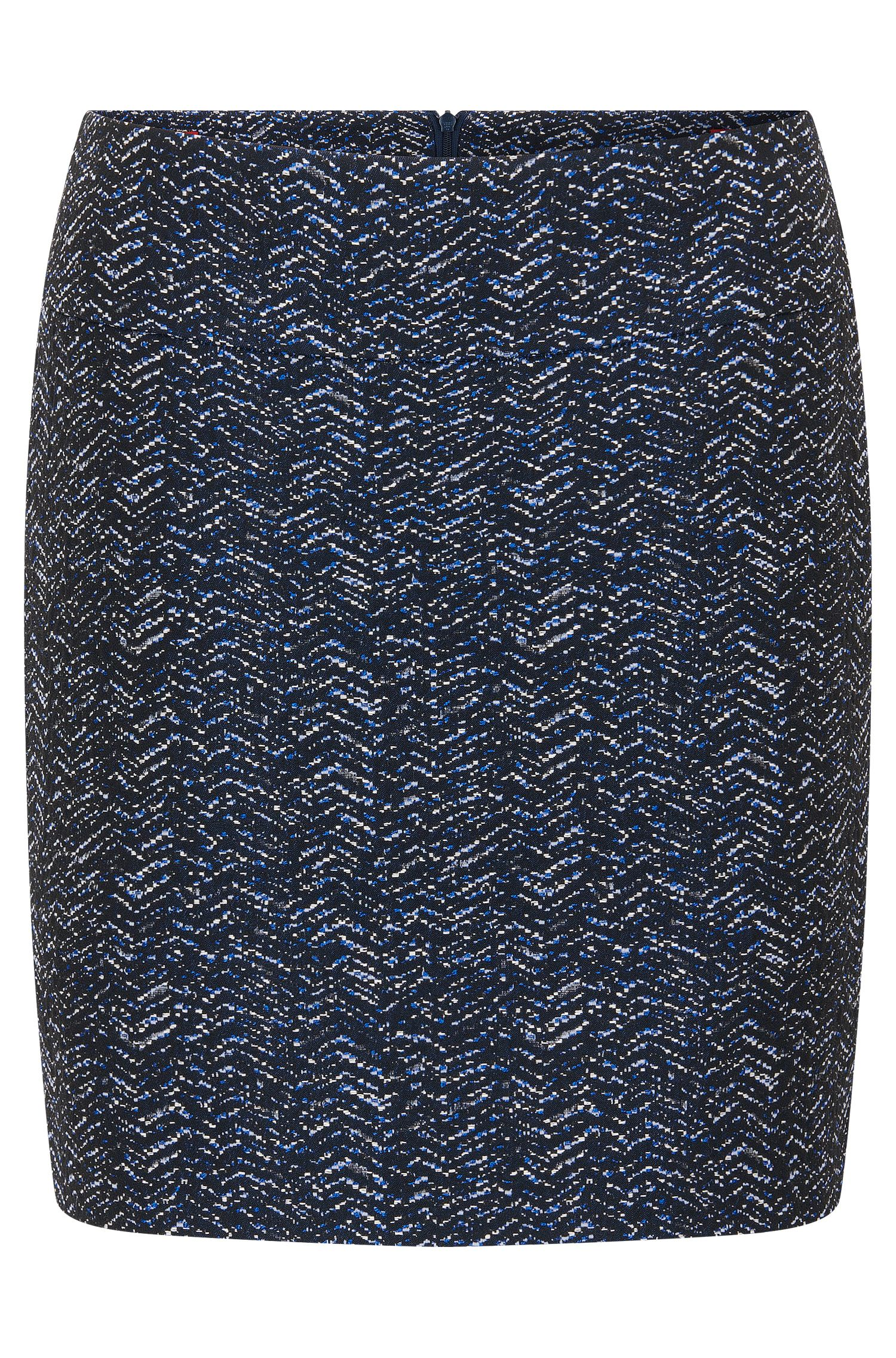 Mini skirt in yarn-dyed jacquard