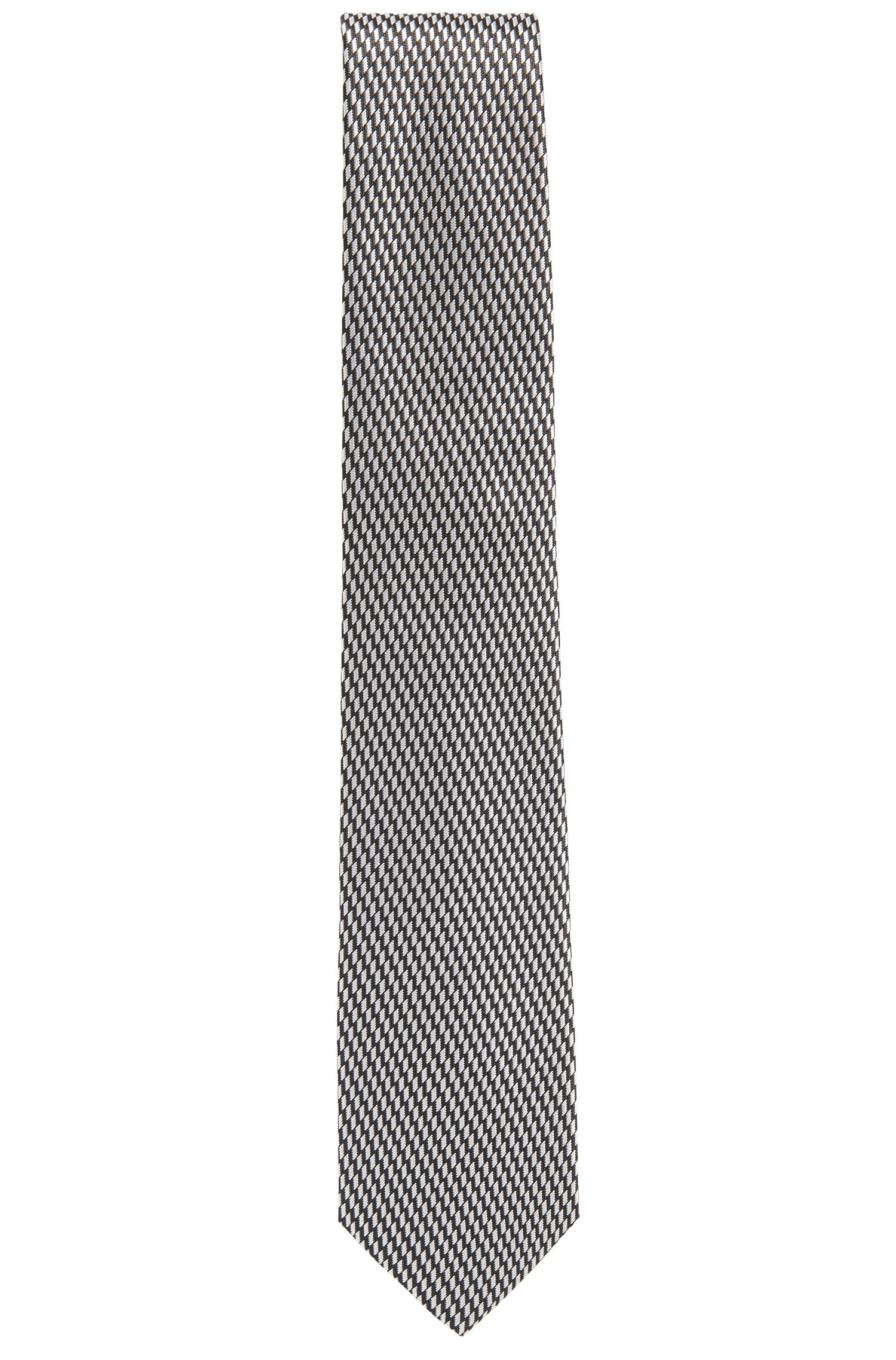 Gestreepte stropdas in zijdejacquard