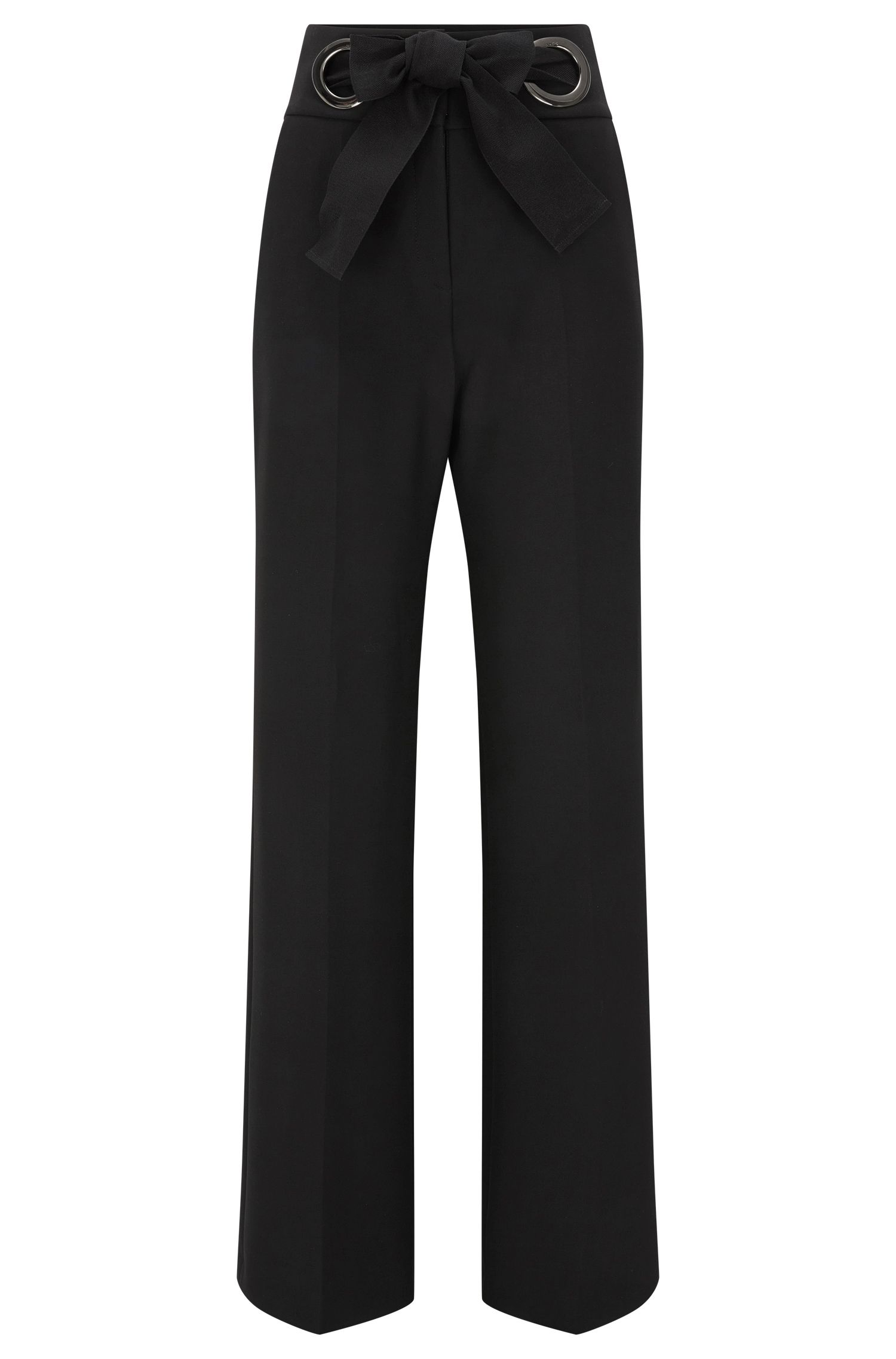 Relaxed-fit trousers with bow closure