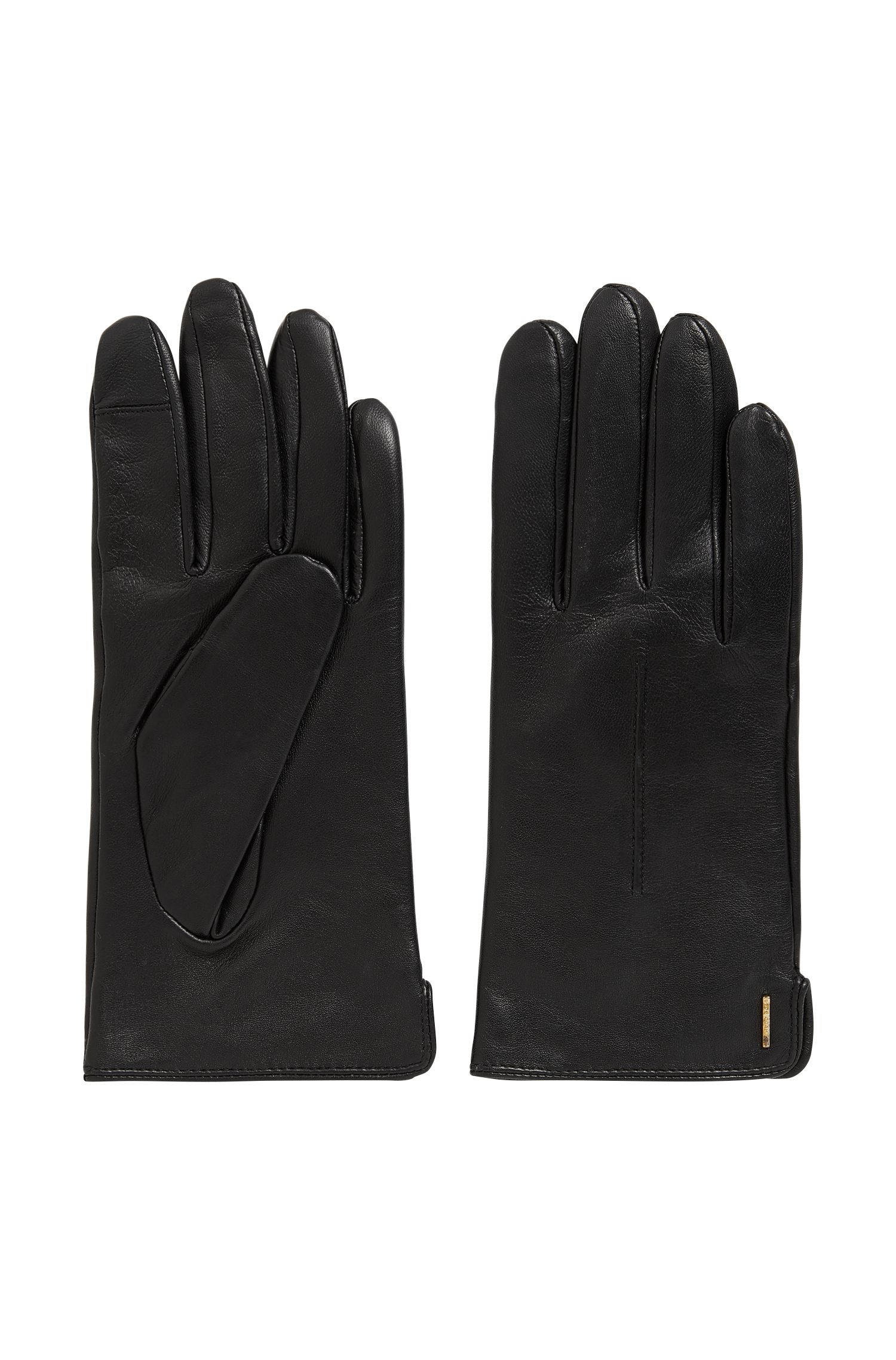 Leather gloves with touchscreen function