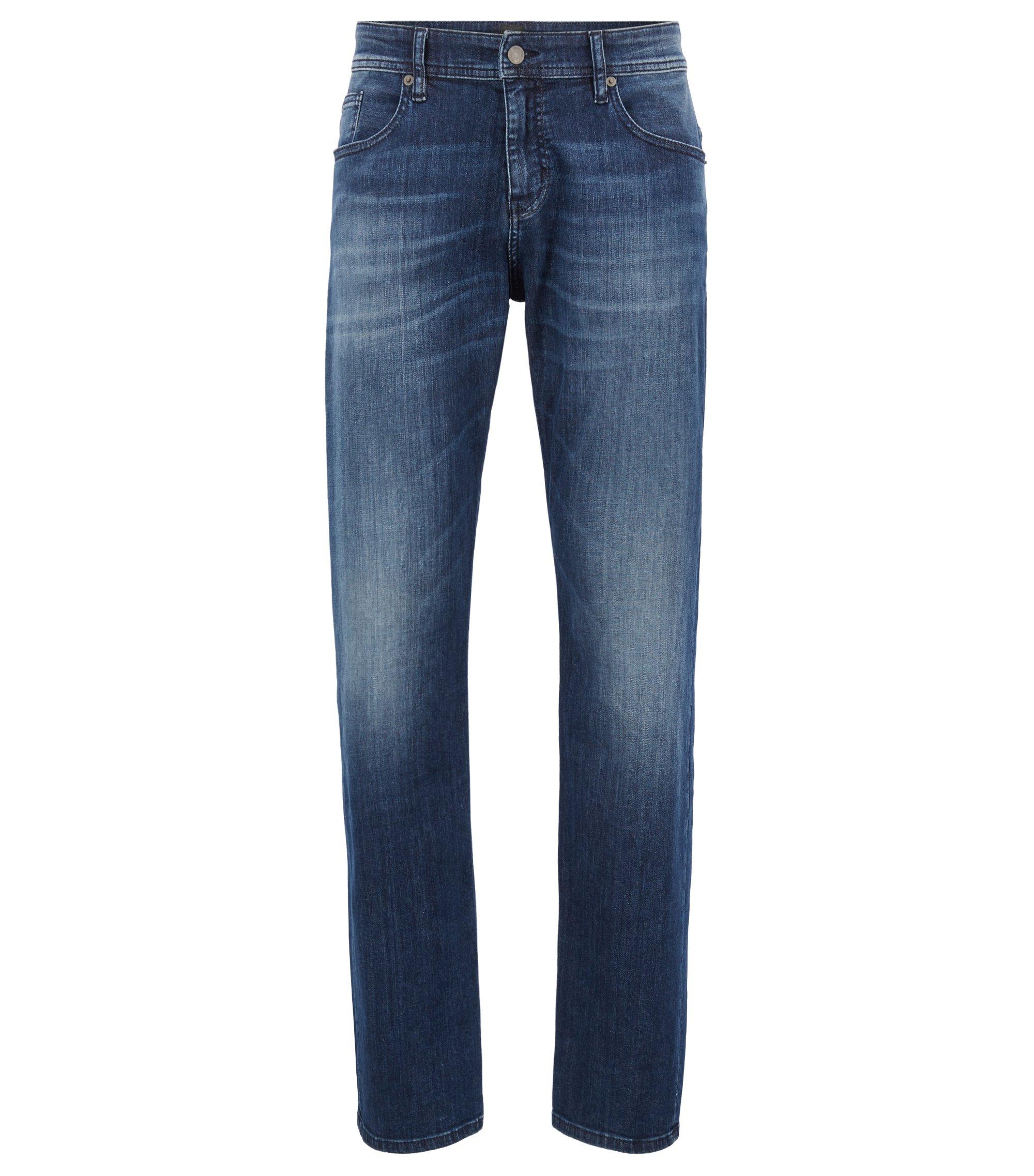 Jeans relaxed fit in denim super elasticizzato, Blu
