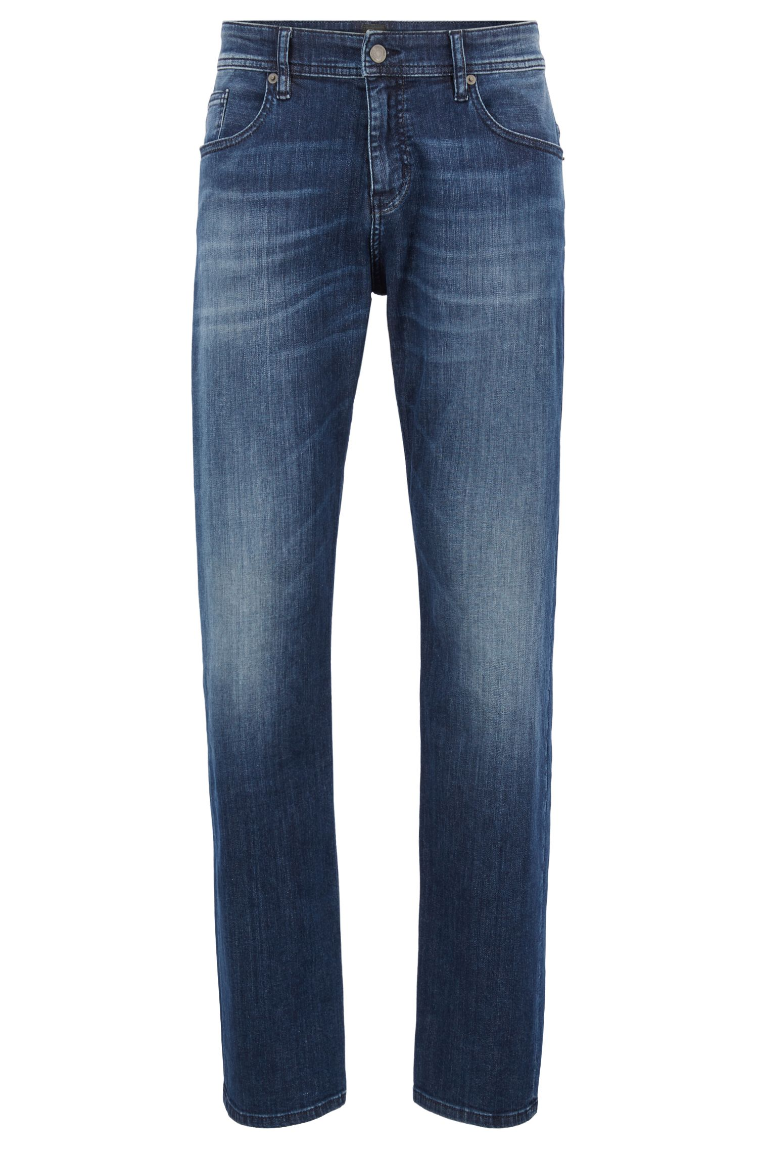 Relaxed-fit jeans van super-stretchdenim