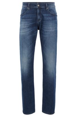 Jeans Relaxed Fit en denim super-stretch, Bleu