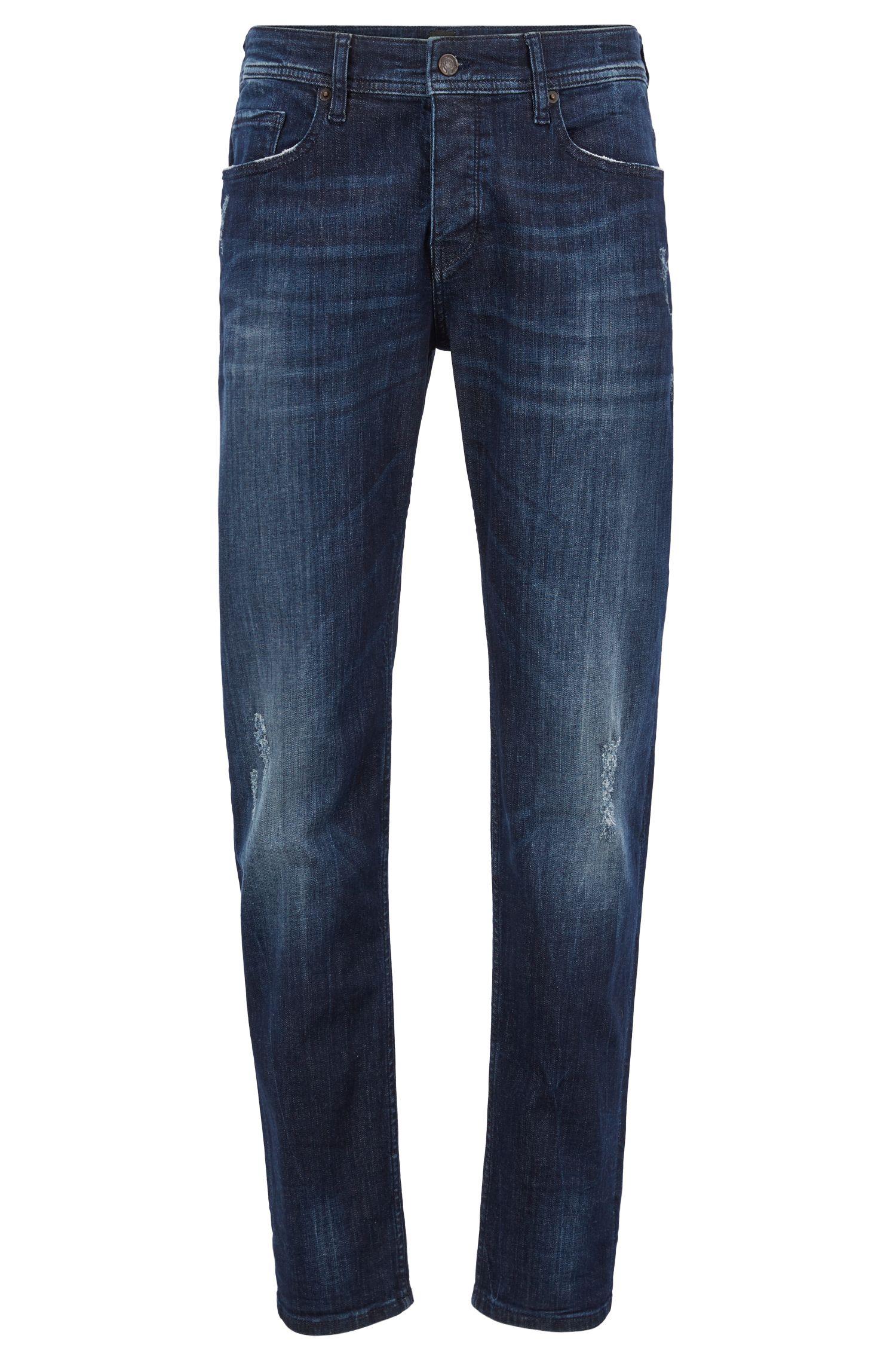 Jeans Tapered Fit en denim super stretch