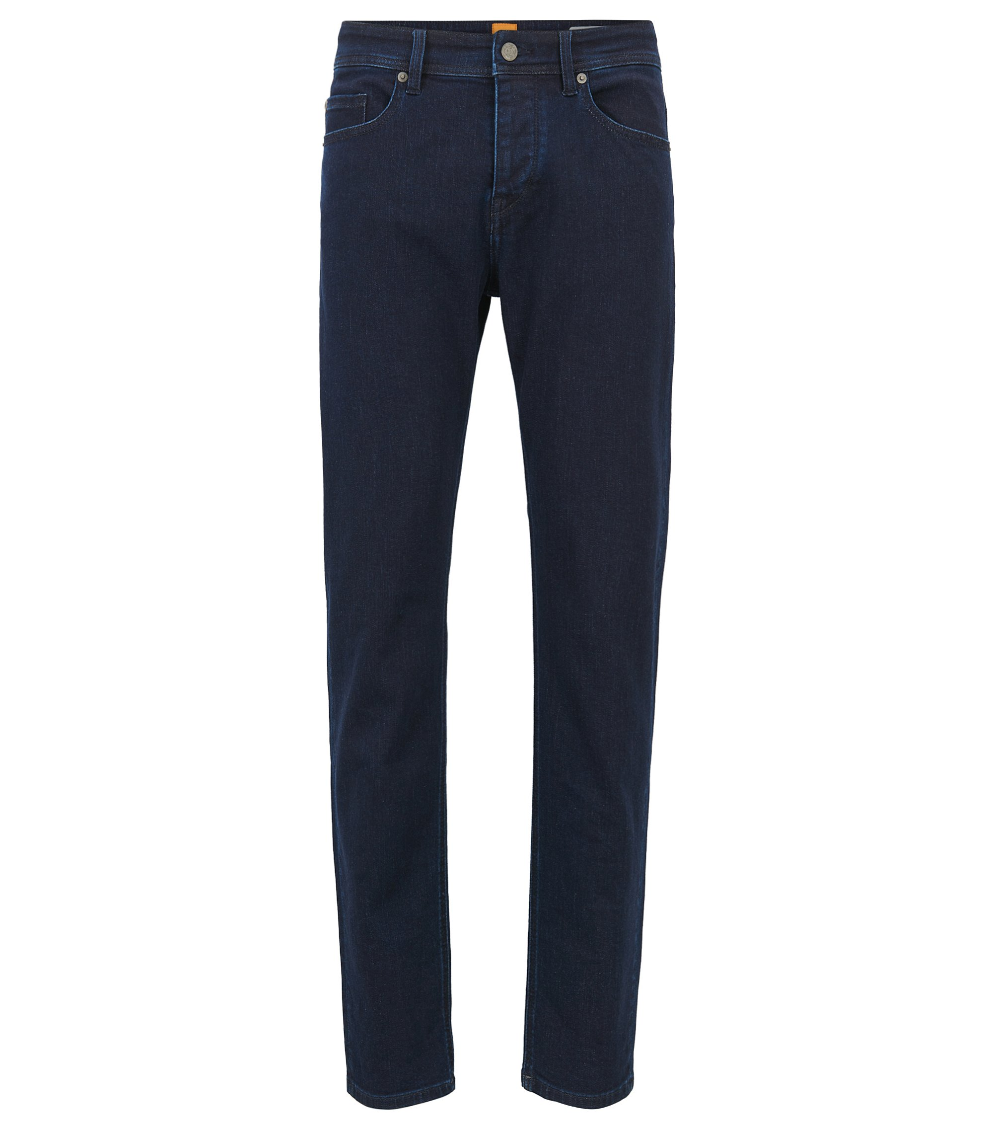 Jeans tapered fit super elasticizzati, Blu scuro