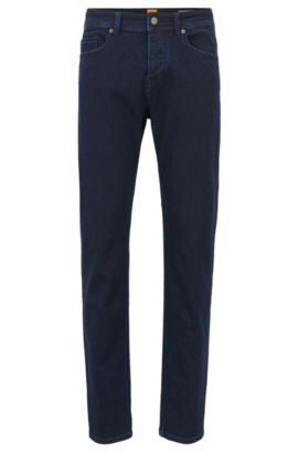 Super-stretch jeans in a tapered fit, Dark Blue