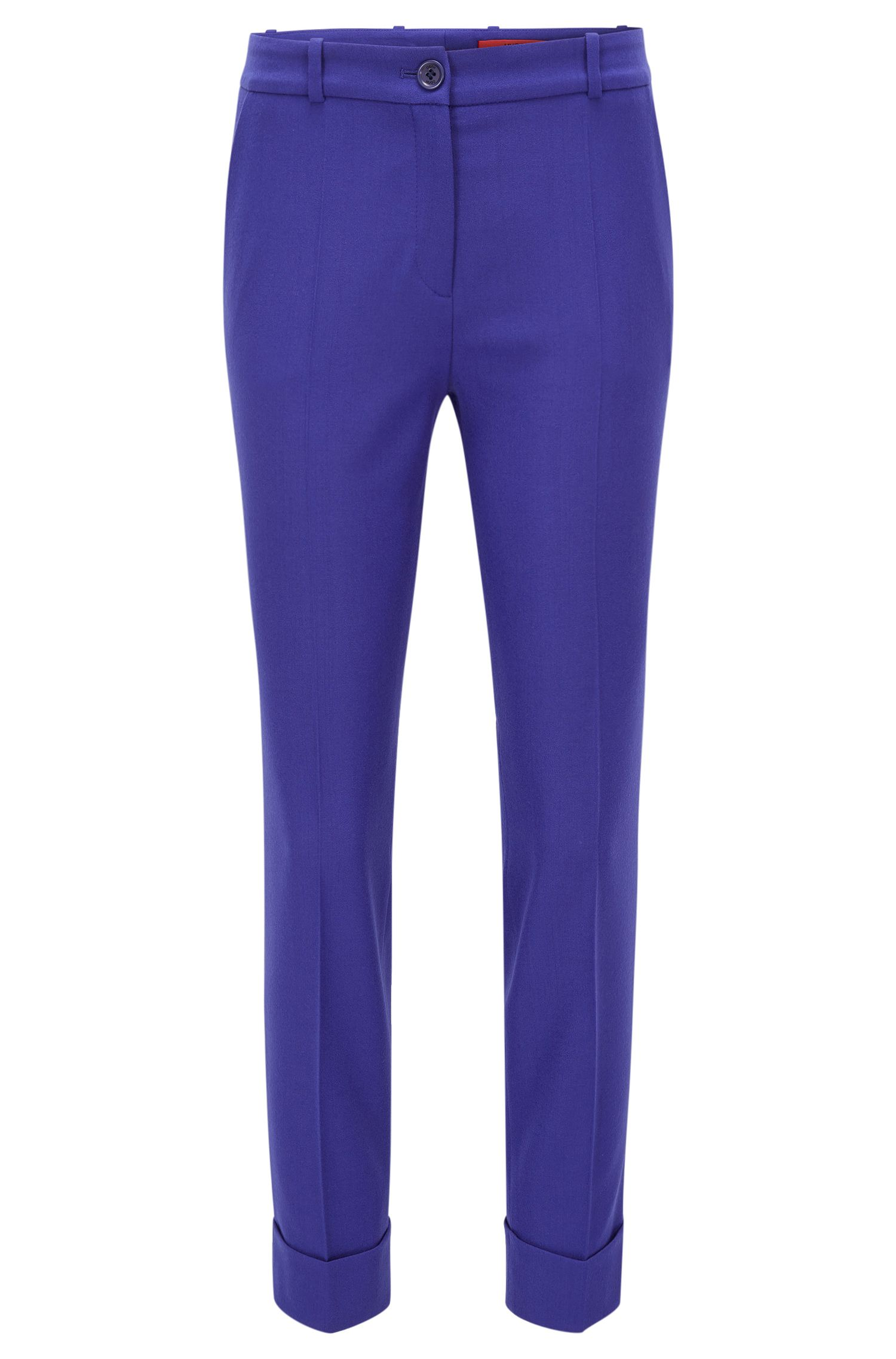 Slim-Fit Hose in Cropped-Länge aus Stretch-Schurwolle