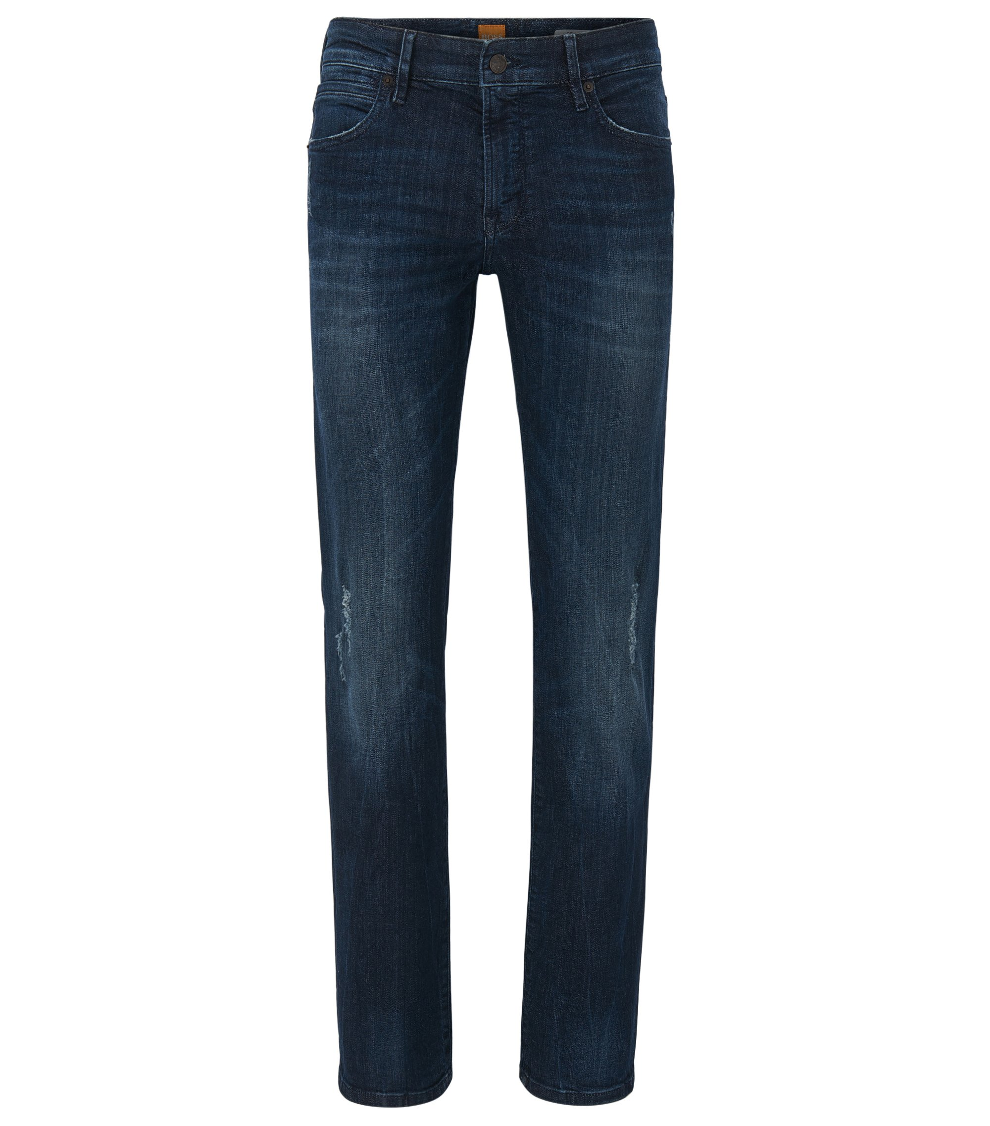 Jeans Regular Fit en denim super stretch, Bleu foncé