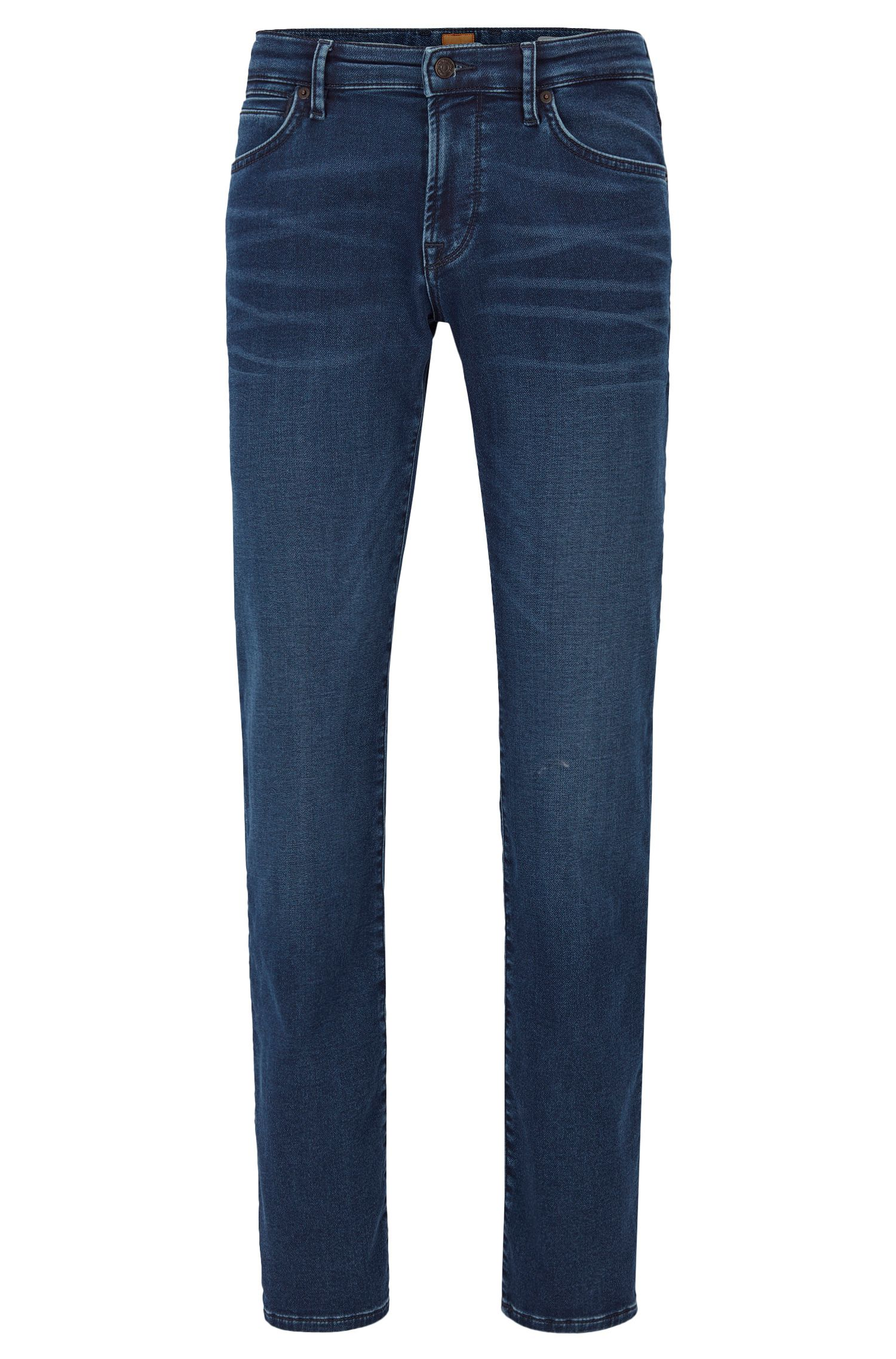 Regular-fit jeans van gebreid stretchdenim