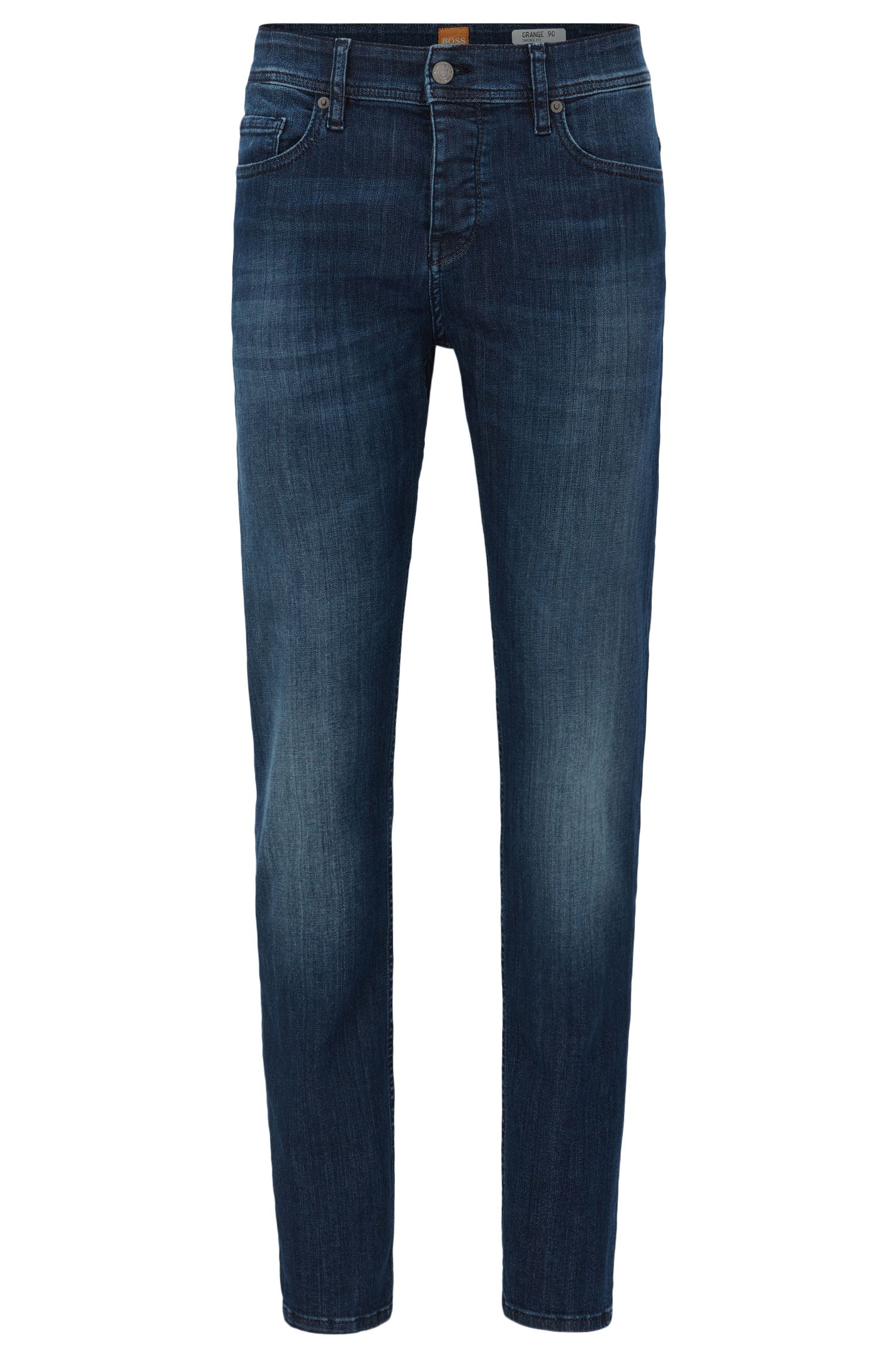 Super-stretch denim jeans in a tapered fit