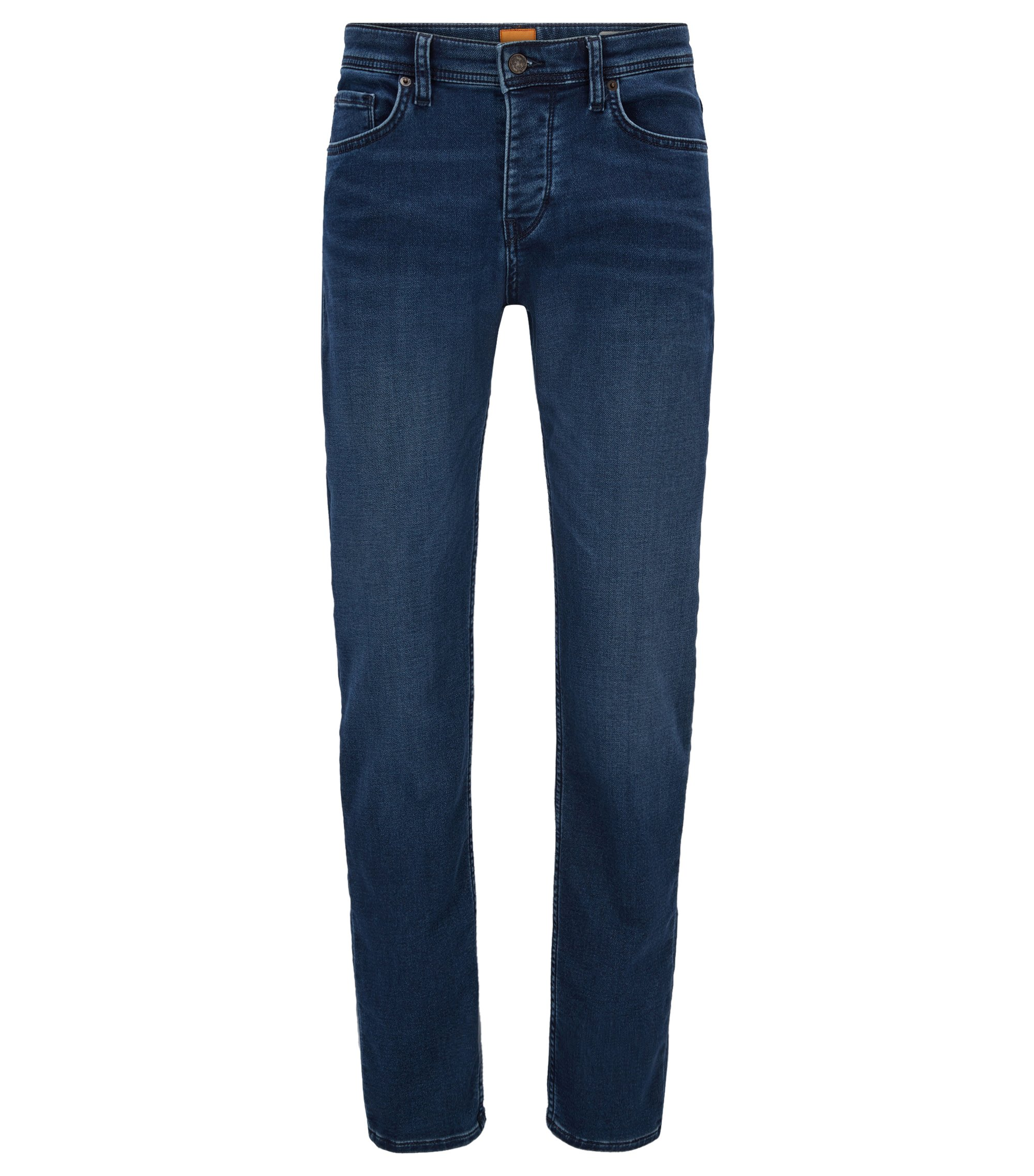 Knitted-denim jeans in a tapered fit, Blue