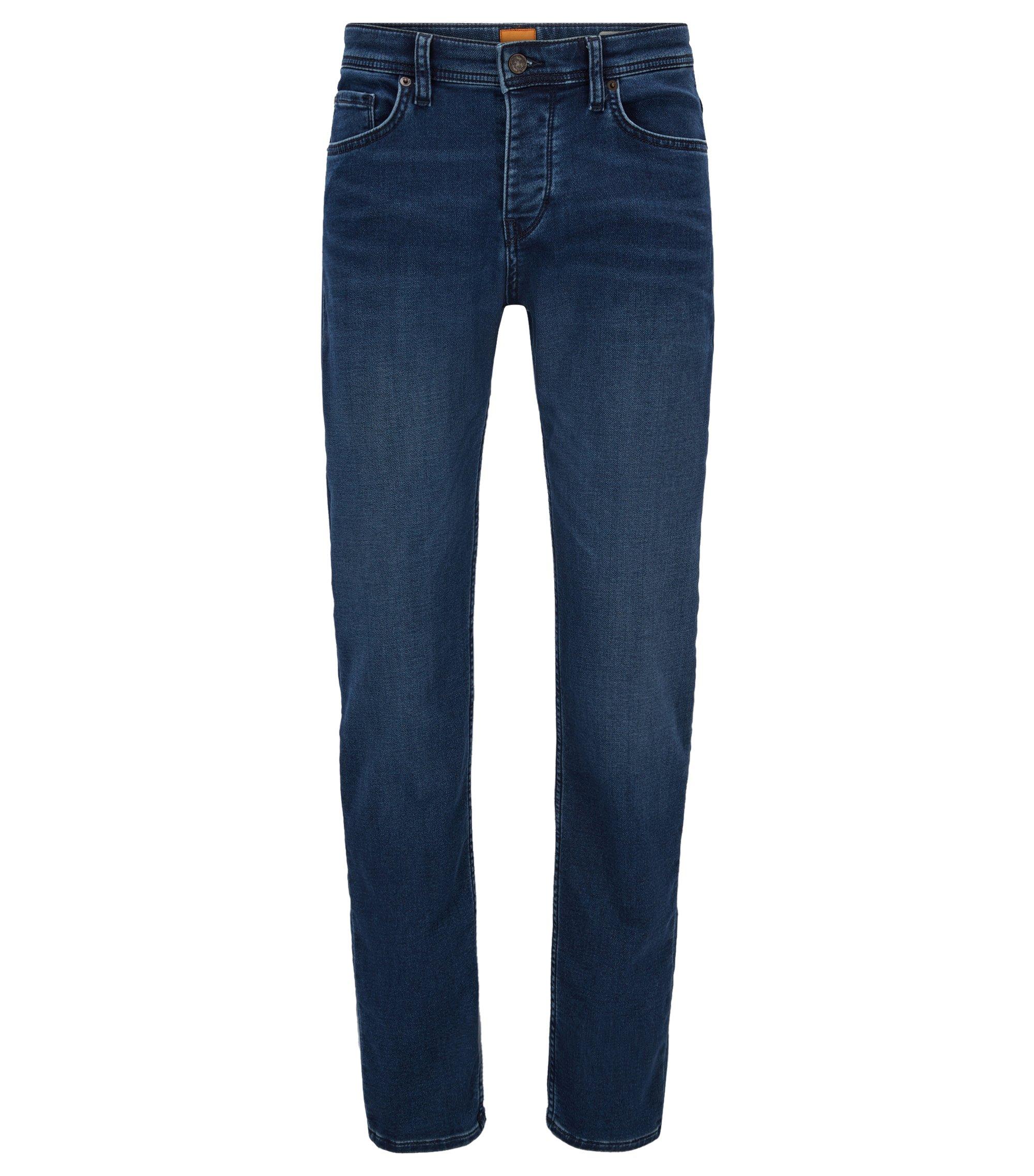 Tapered-Fit Jeans aus elastischem Baumwoll-Mix, Blau