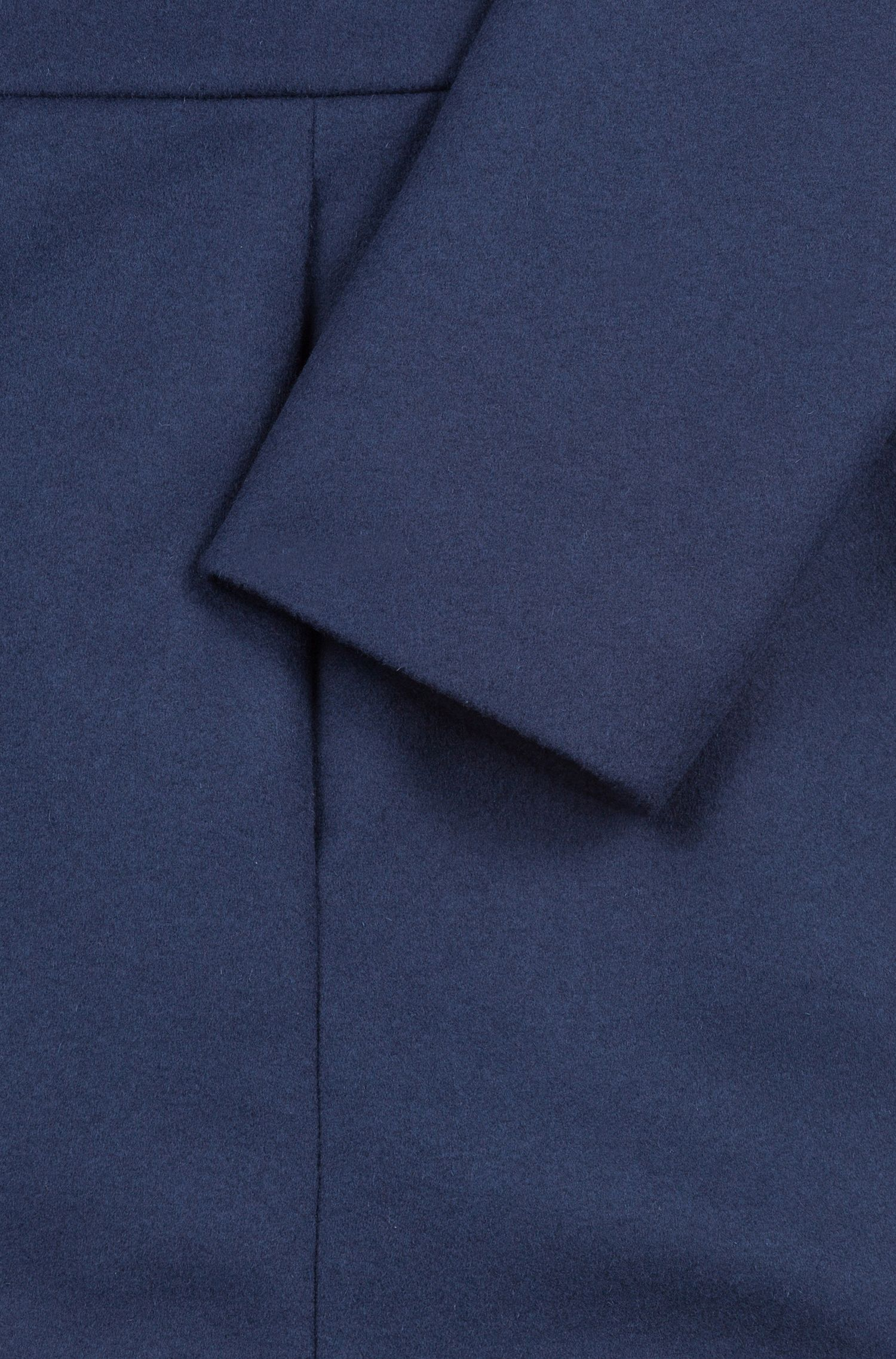 Regular-fit coat in a virgin wool blend