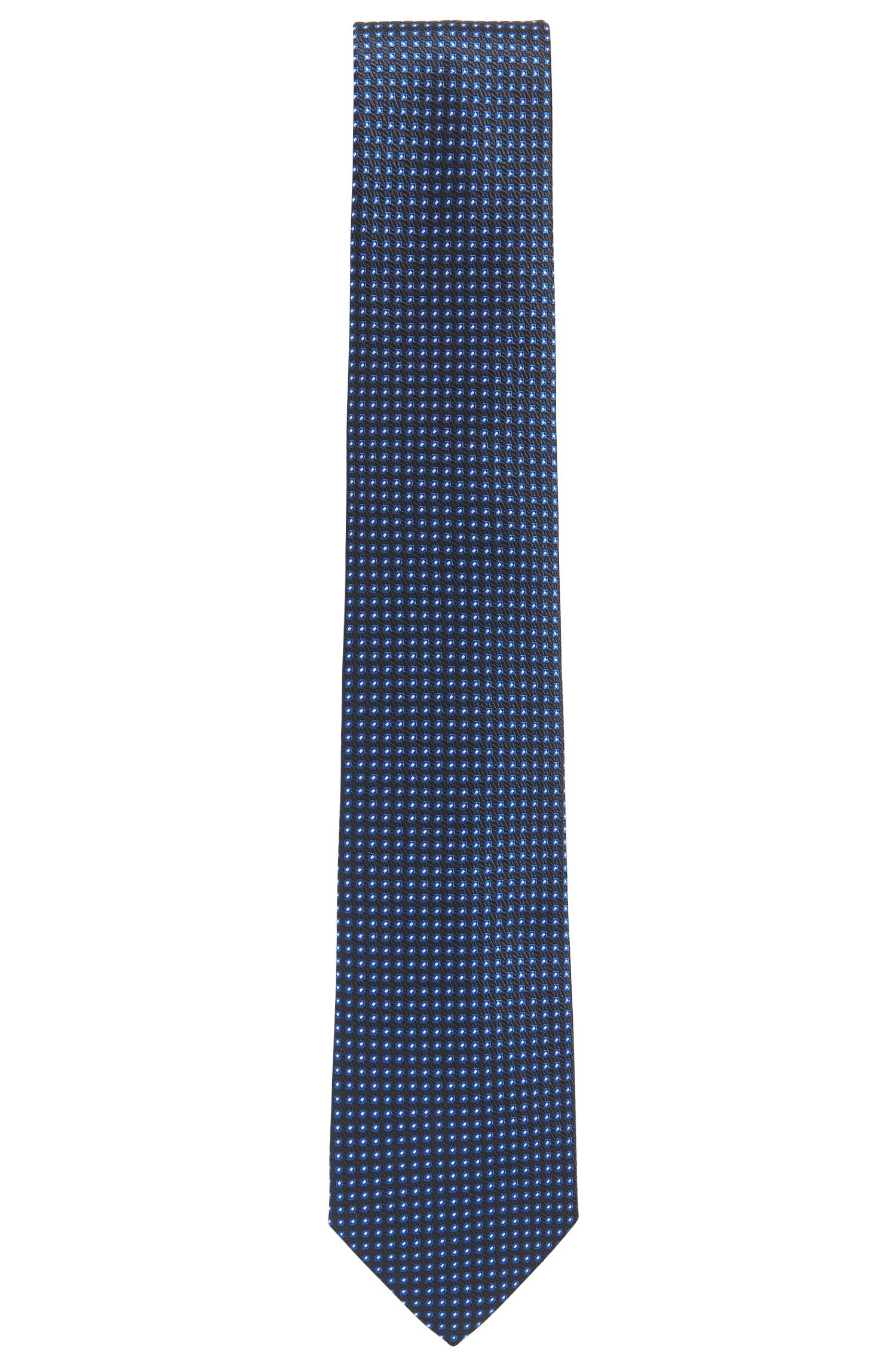 Cravatta jacquard in seta con microdisegni
