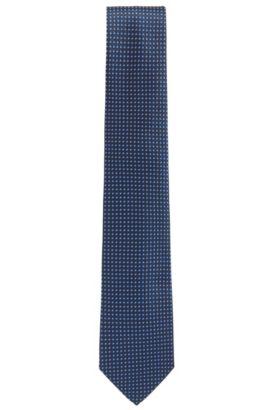 Gemusterte Krawatte aus Seiden-Jacquard, Dunkelblau
