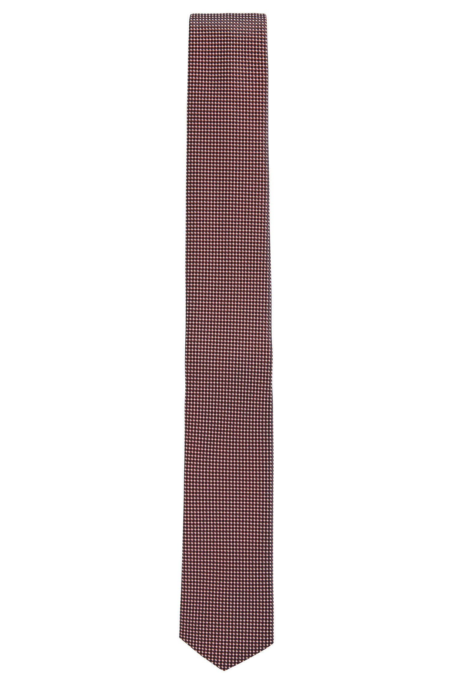 Waterproof tie in patterned silk jacquard