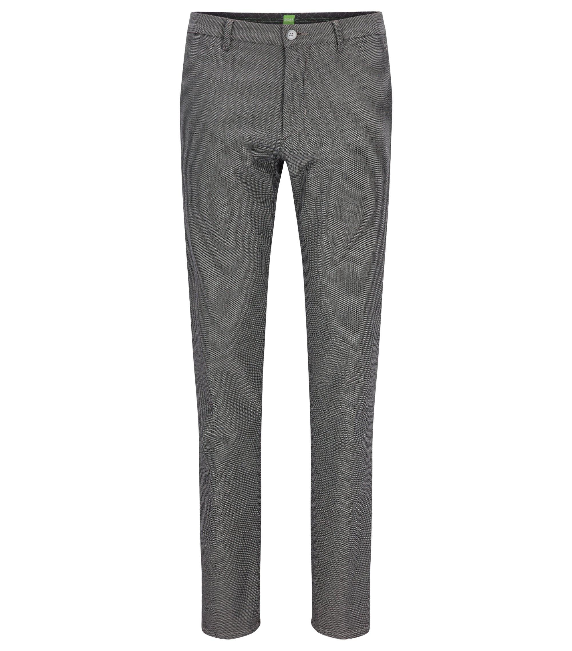 Pantalones slim fit en algodón elástico, Gris